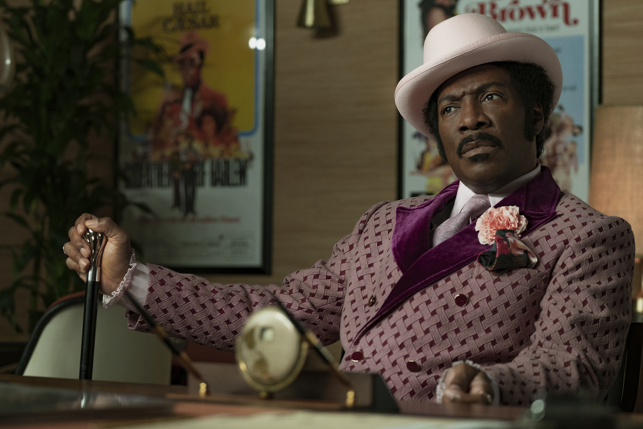 "Eddie Murphy is shown in a scene from the Netflix film ""Dolemite Is My Name."""