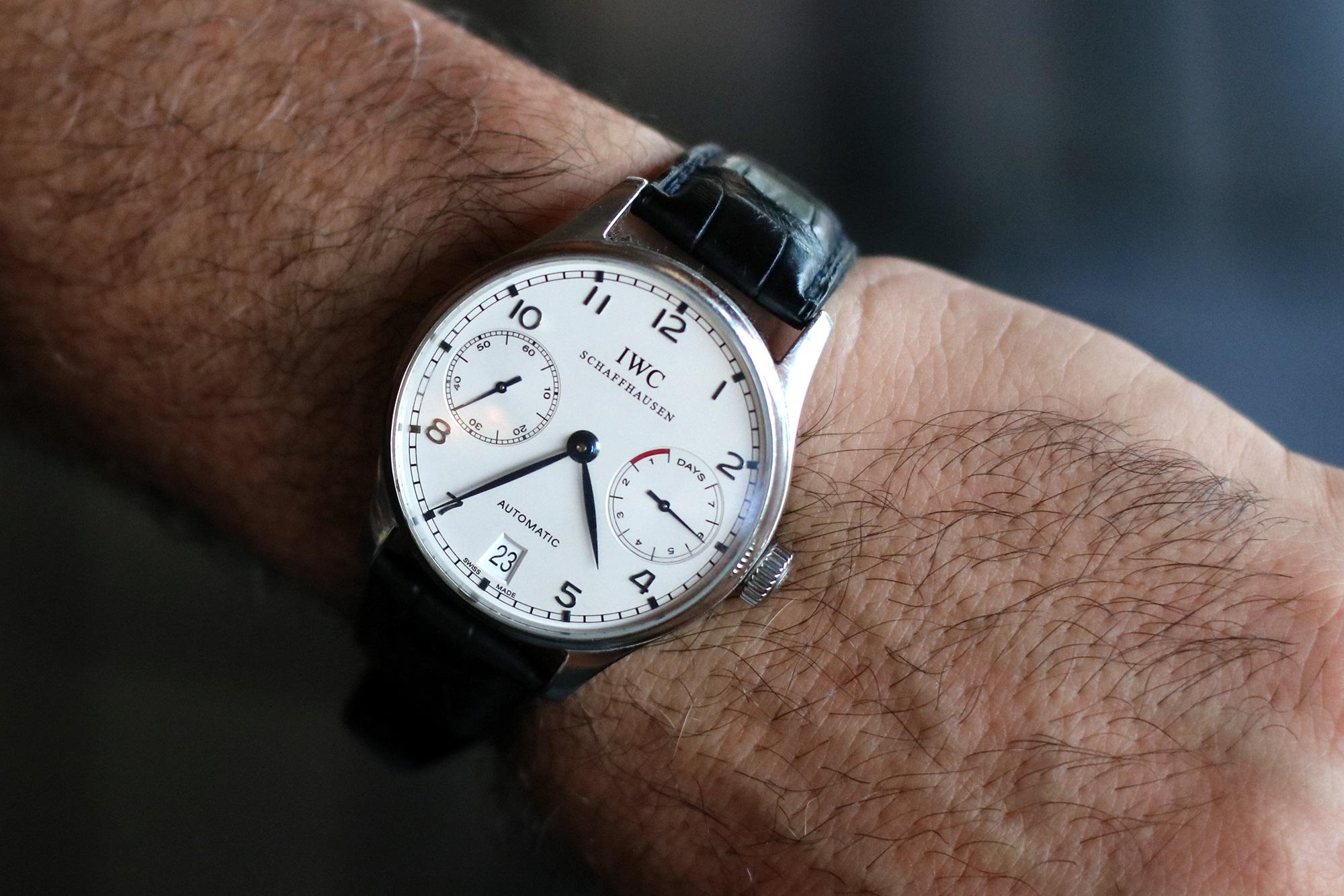 Chef Josiah Citrin's IWC Portuguese watch