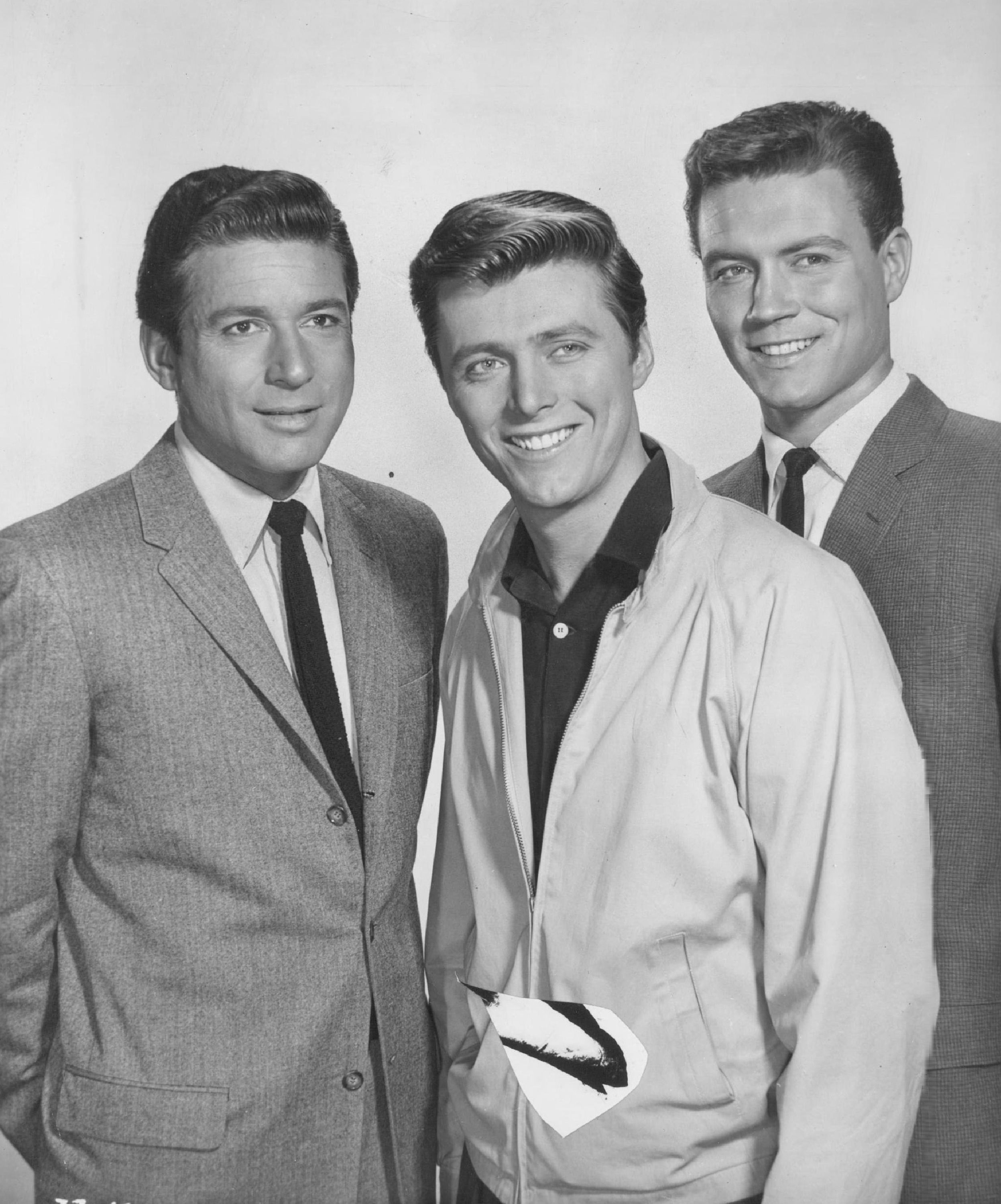 "Efrem Zimbalist Jr. (from left), Edd (Kookie) Byrnes and Roger Smith star in the series ""77 Sunset Strip."""