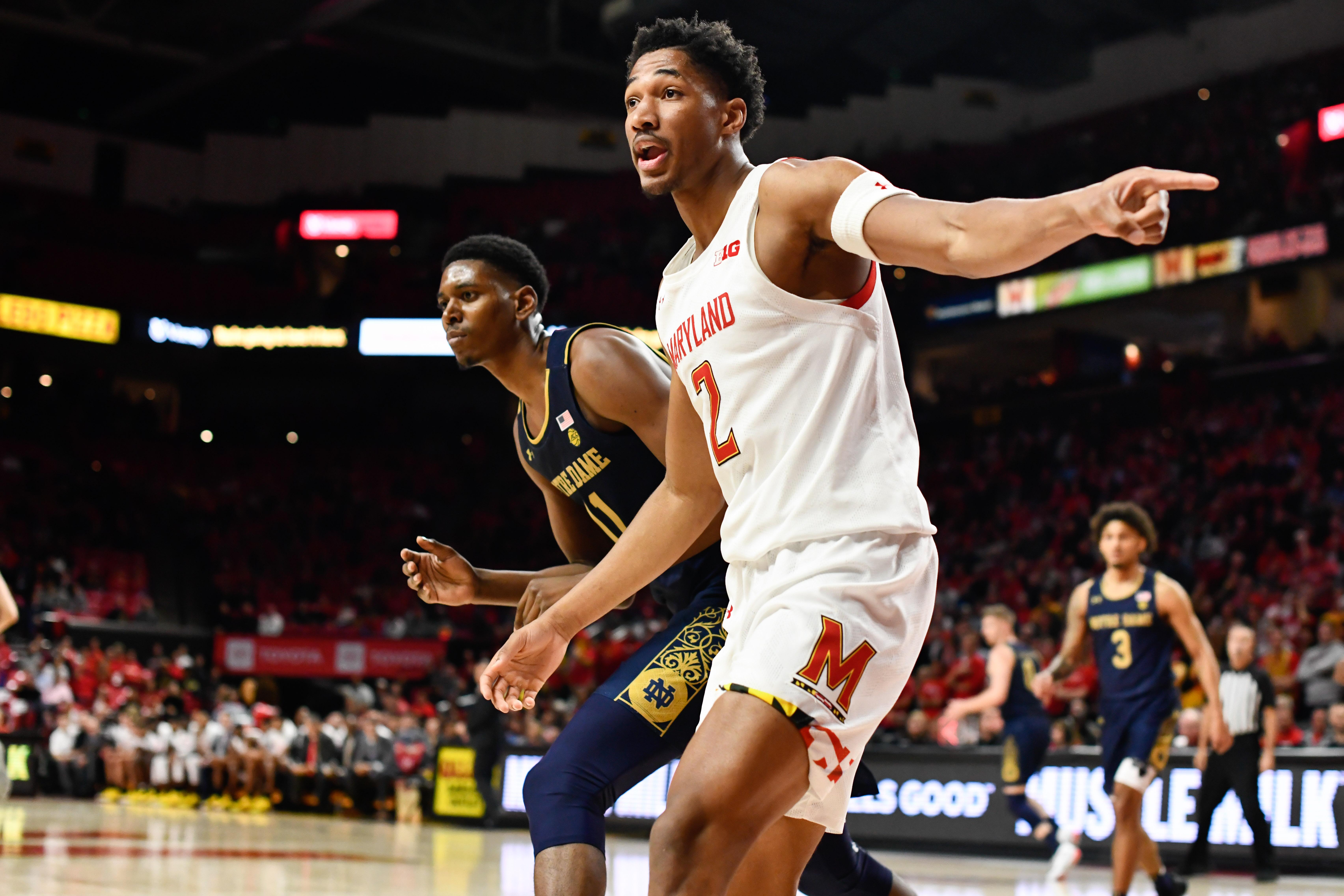 Aaron Wiggins, Notre Dame, Maryland men's basketball
