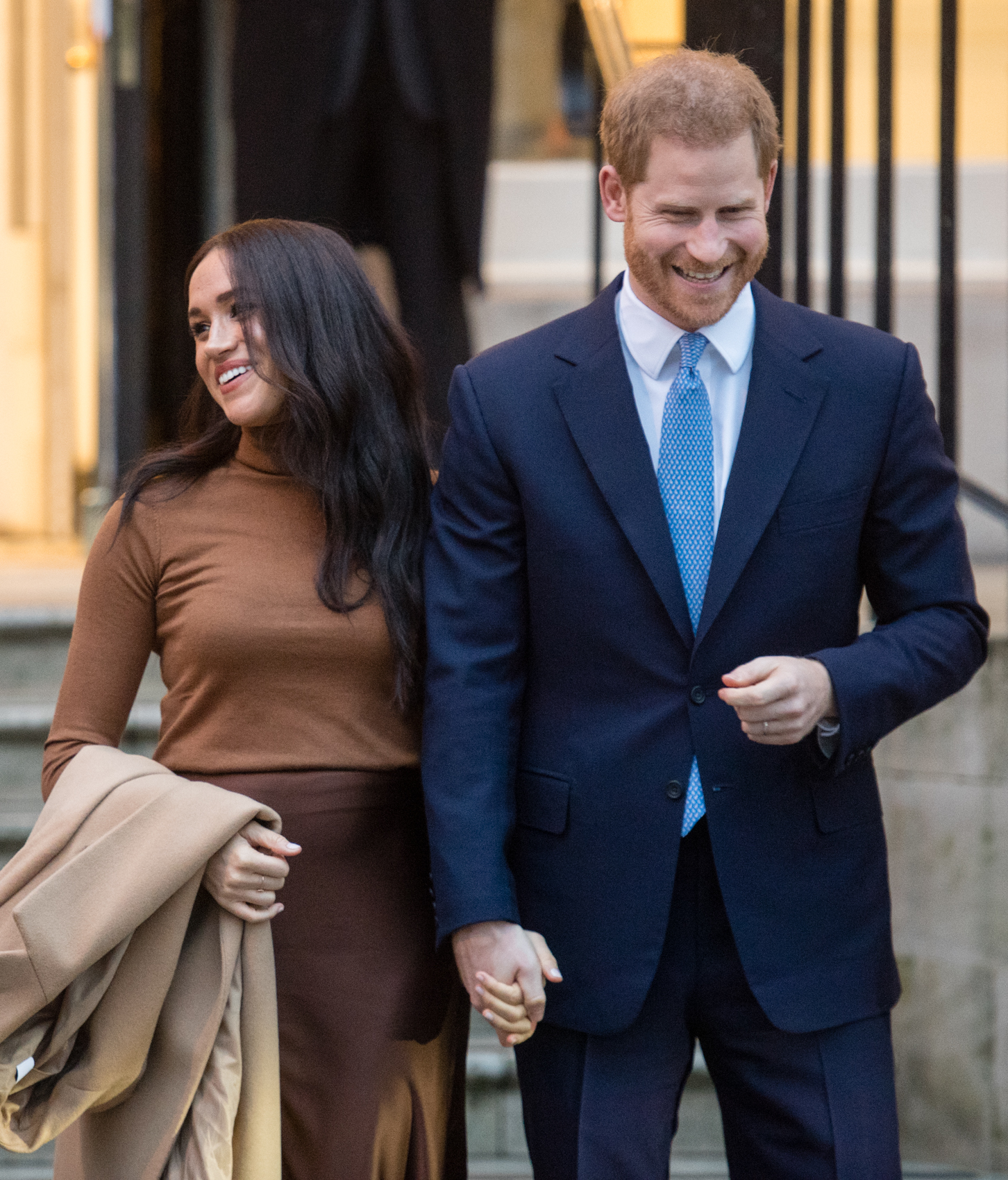 Prince Harry, Duke of Sussex and Meghan, Duchess of Sussex visit Canada House on January 07, 2020 in London, England.