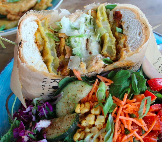A po' boy sandwich from Krimsey's Cajun Kitchen