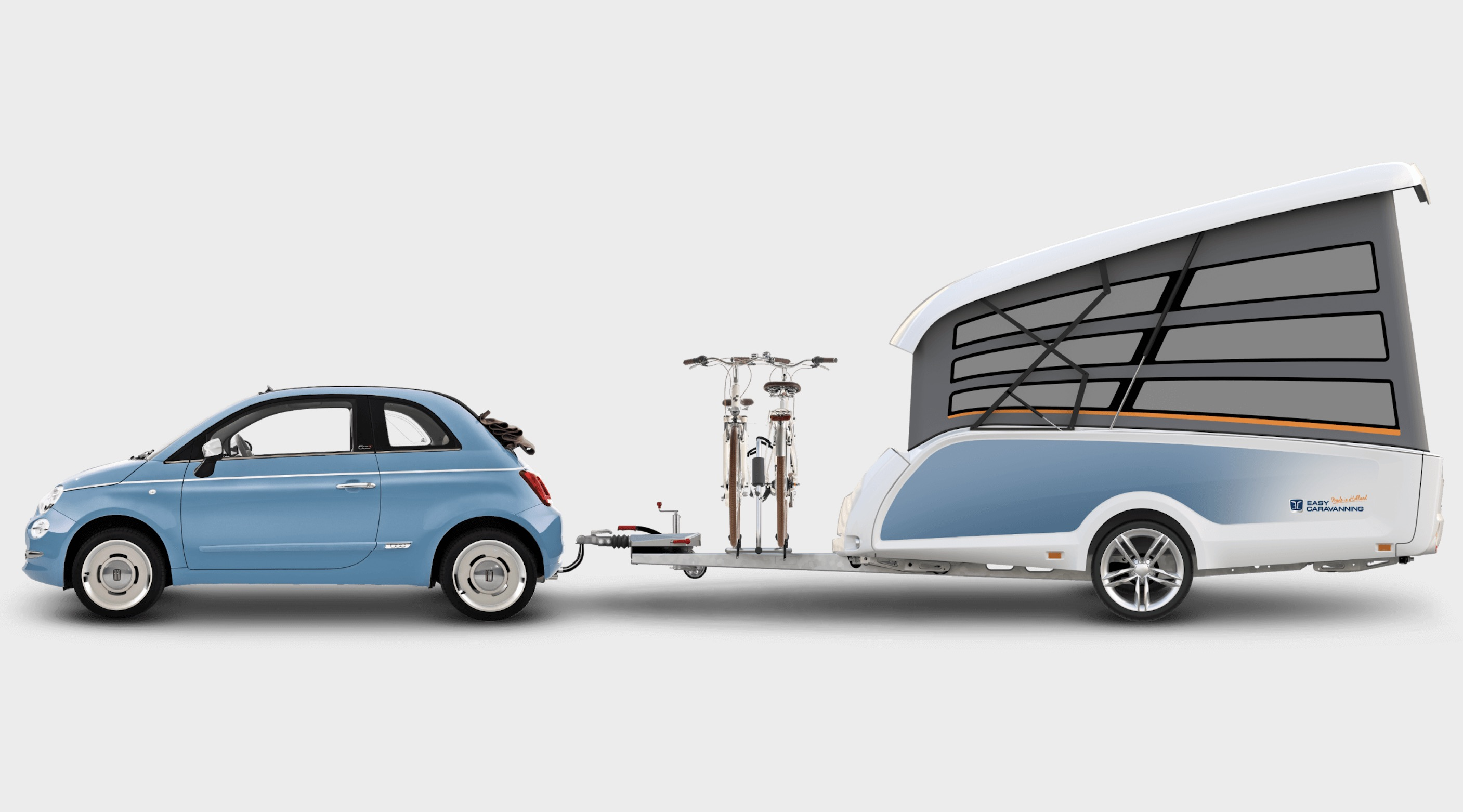 Tiny pop-up trailer can be towed by almost any car