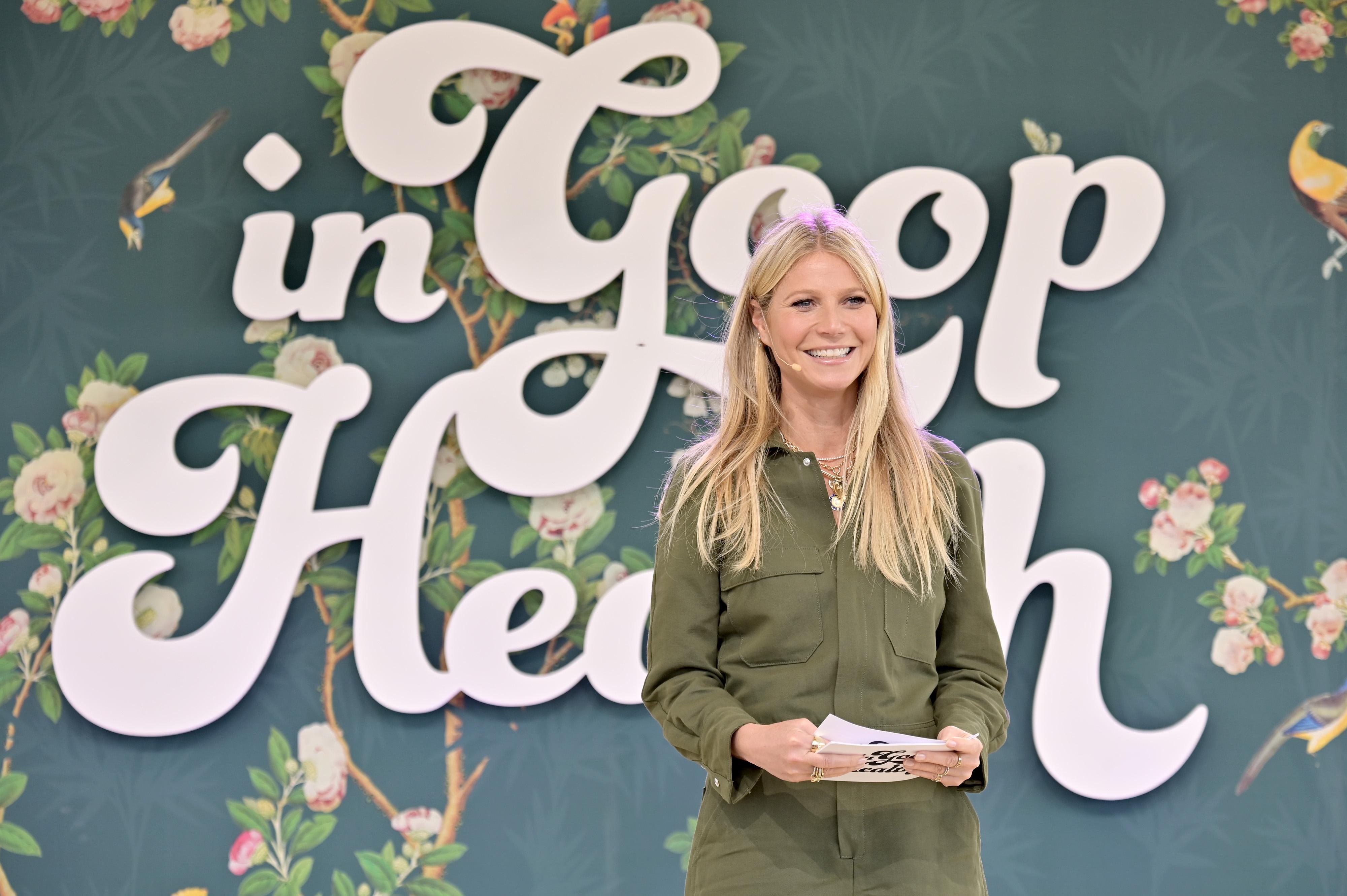 CEO Gwyneth Paltrow speaks onstage at In goop Health Summit Los Angeles 2019 at Rolling Greens Nursery on May 18, 2019 in Los Angeles, California.