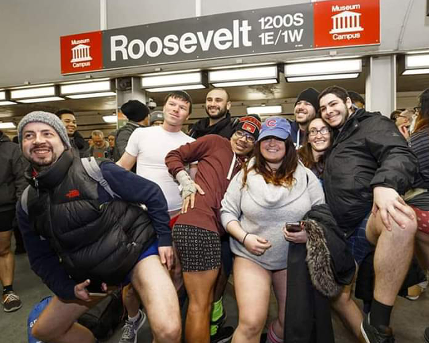 """The """"No Pants Subway Ride"""" is """"a celebration of silliness,"""" organizers say."""