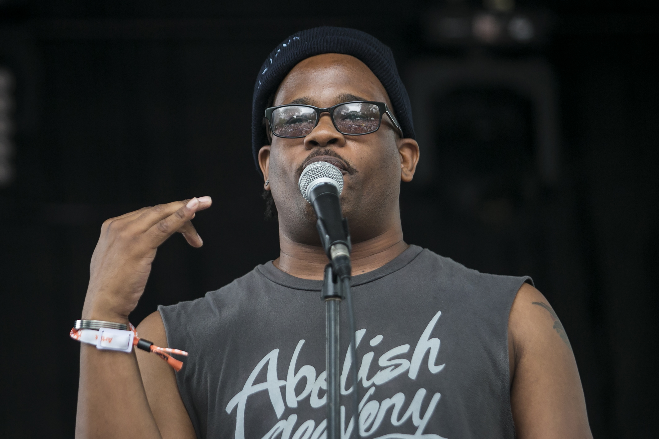 Open Mike Eagle performs at Pitchfork Music Festival in Union Park in 2018. He's on the Tomorrow Never Knows lineup for a show on Jan. 16 at the Hideout.