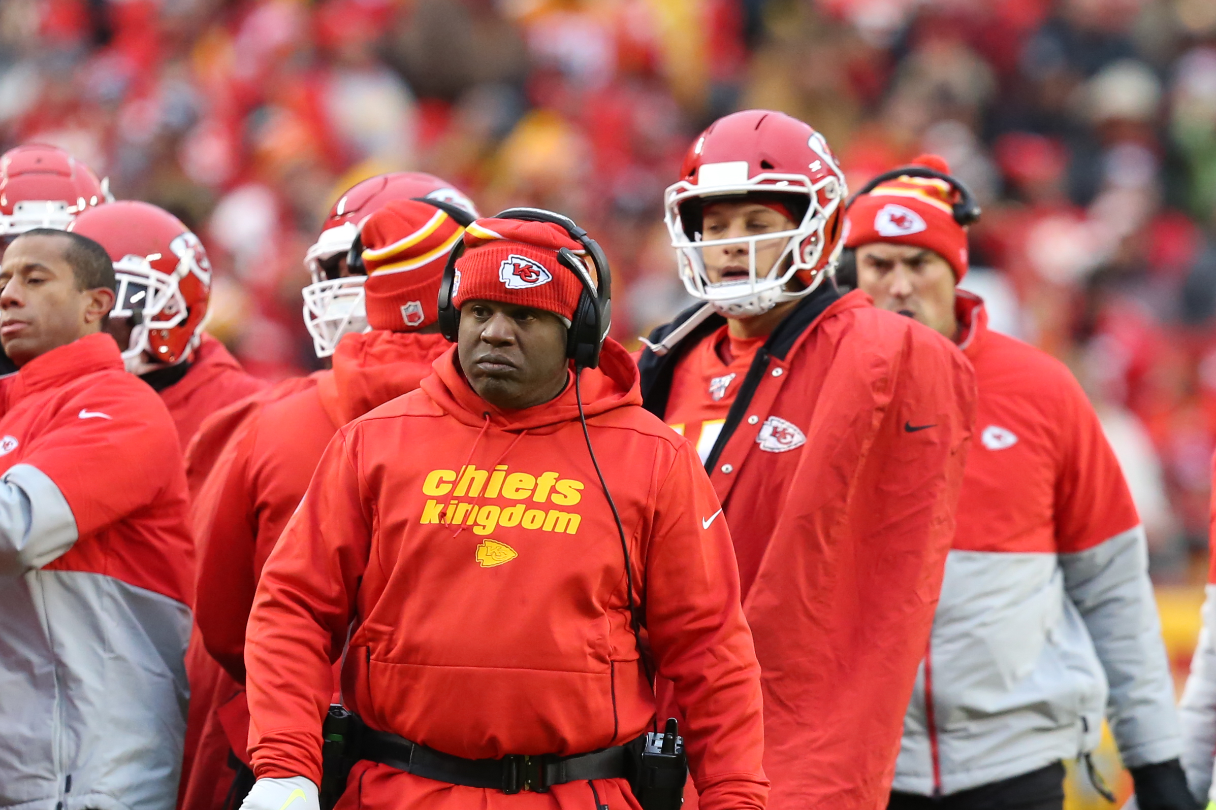 Eric Bieniemy's Chiefs just put up 51 points in a playoff game. Why isn't he a head coach yet?