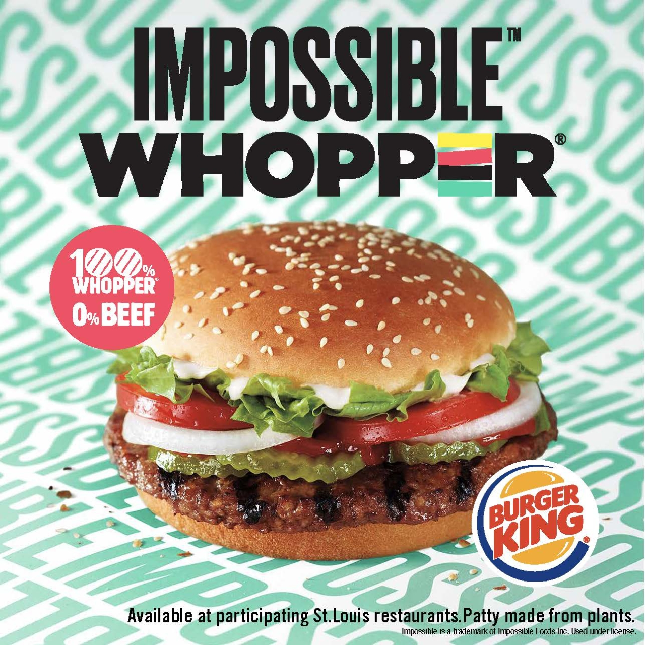 """The """"Impossible Whopper""""   Courtesy Burger King Corp."""