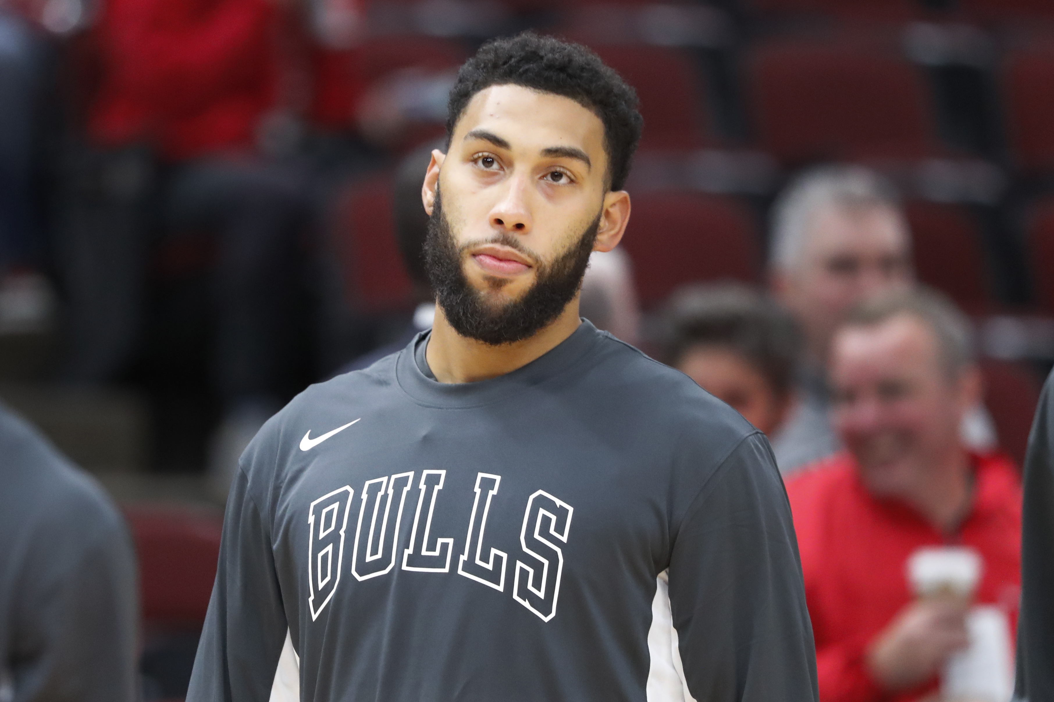 """''I'm definitely not happy about it,'' Bulls swingman Denzel Valentine said of not playing. ''I'm a competitor. I want to play, I want to be productive, I want to help the team win. But that's out of my control."""""""