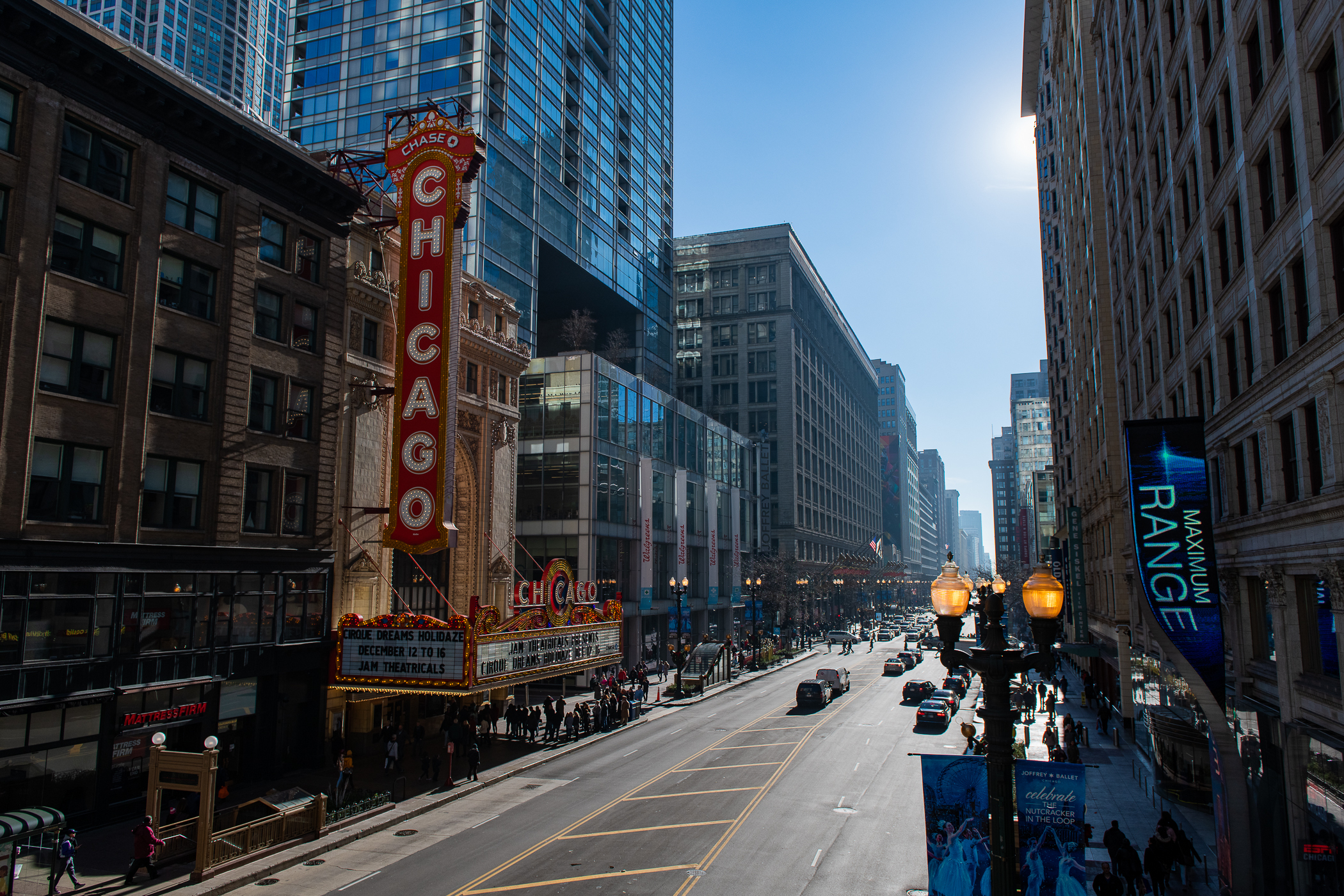 A view down State Street, one of the main streets in the Loop.