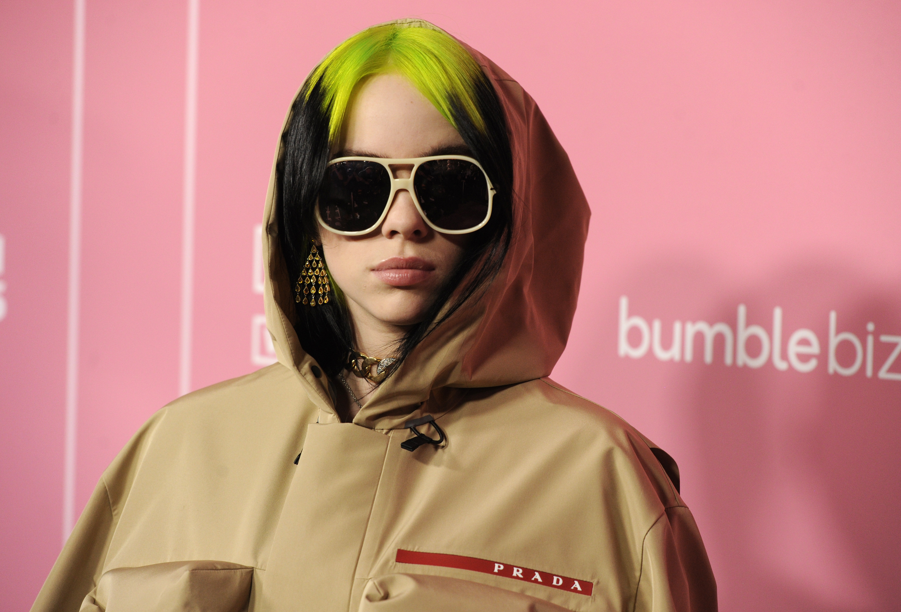 Billie Eilish arrives at Billboard's Women in Music at the Hollywood Palladium on Thursday, Dec. 12, 2019, in Los Angeles. (AP Photo/Chris Pizzello) ORG XMIT: CAPM119
