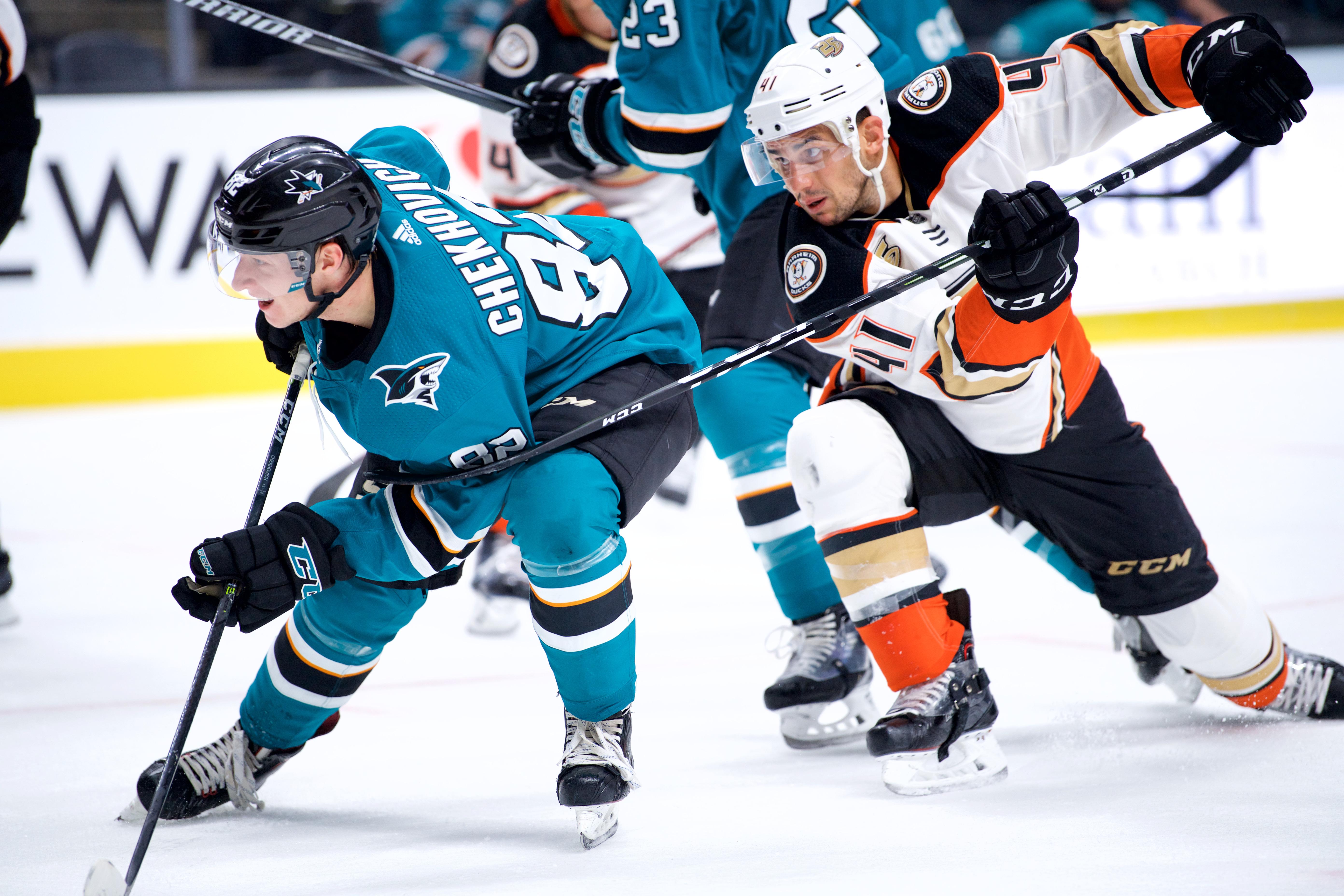 NHL: SEP 18 Preseason - Ducks at Sharks