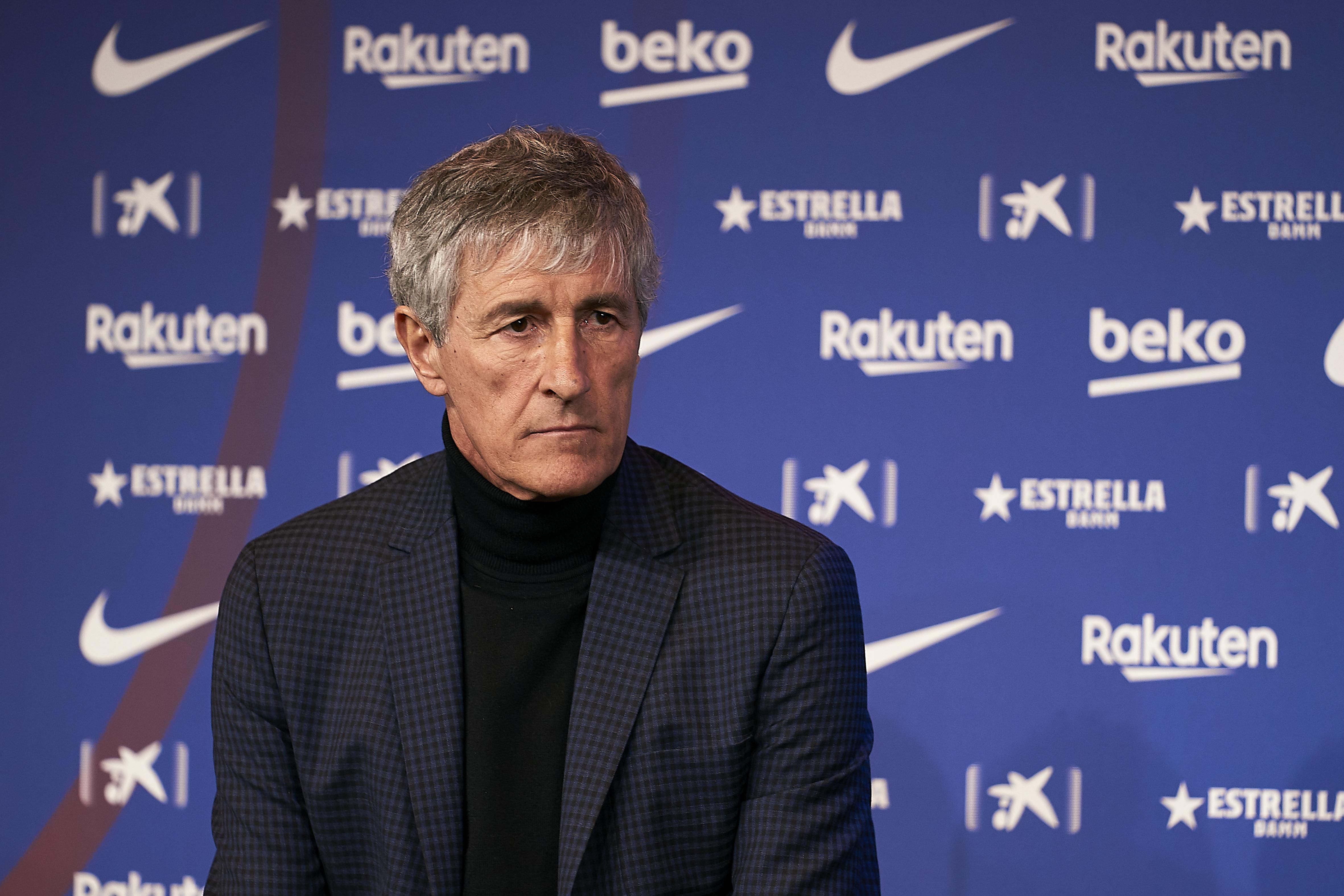 FC Barcelona Unveil New Coach Quique Setien