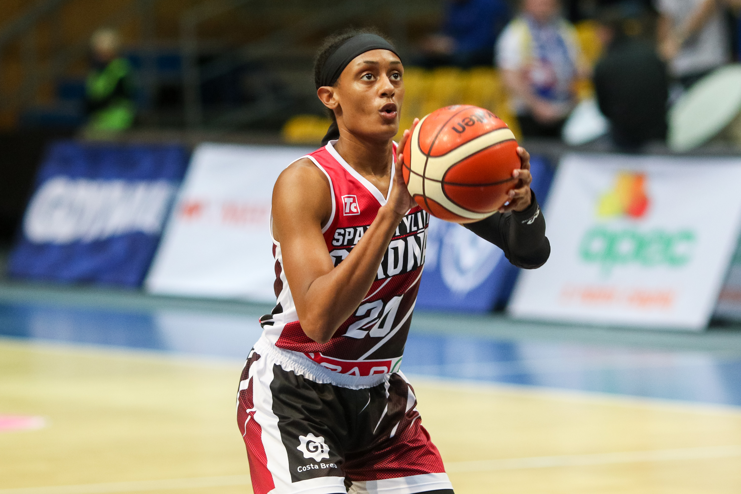 Brittney Sykes seen in action during the 7days EuroCup group...