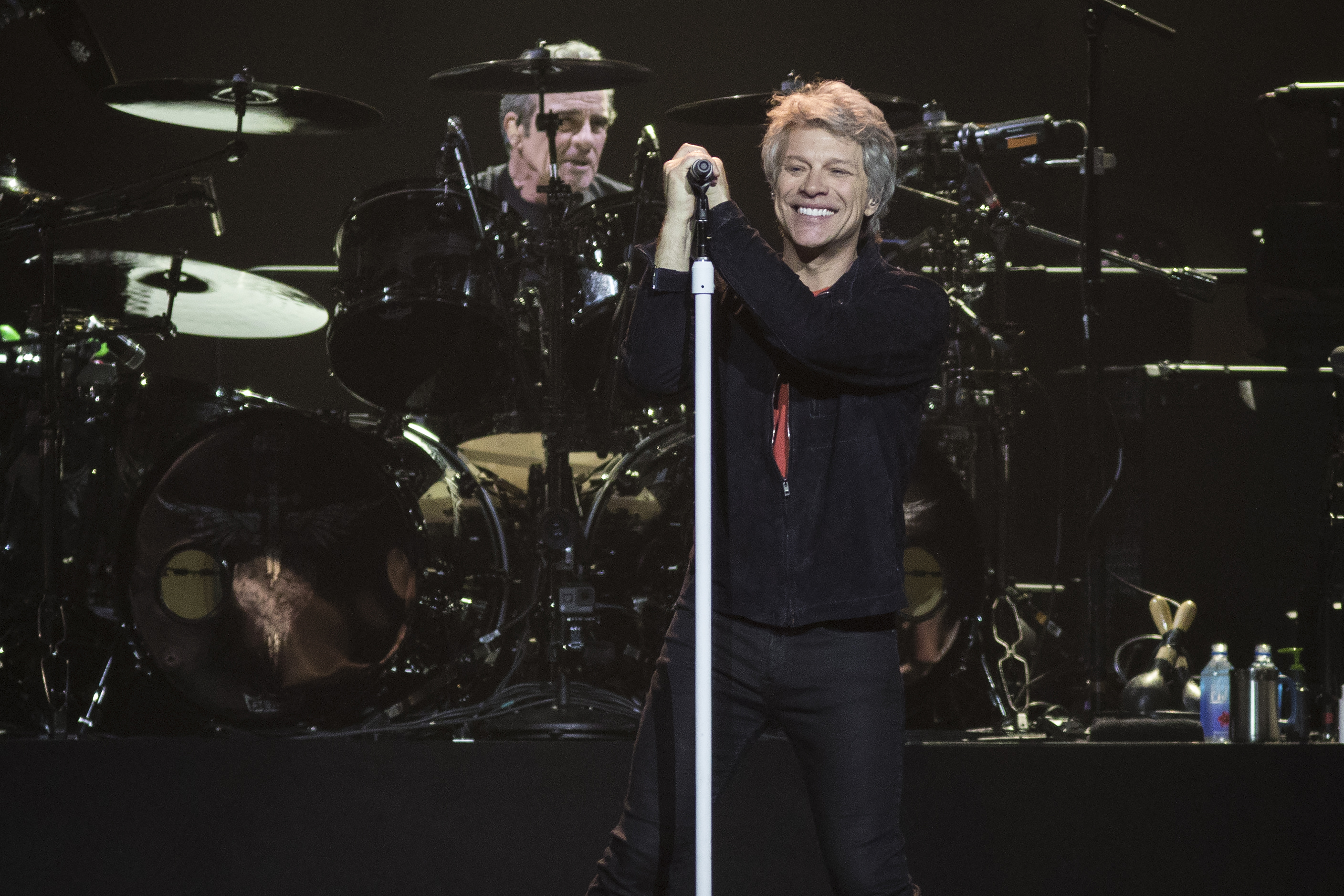 Bon Jovi performs at the United Center in 2018.