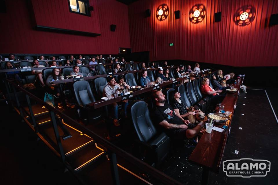 The interior of an Alamo Drafthouse