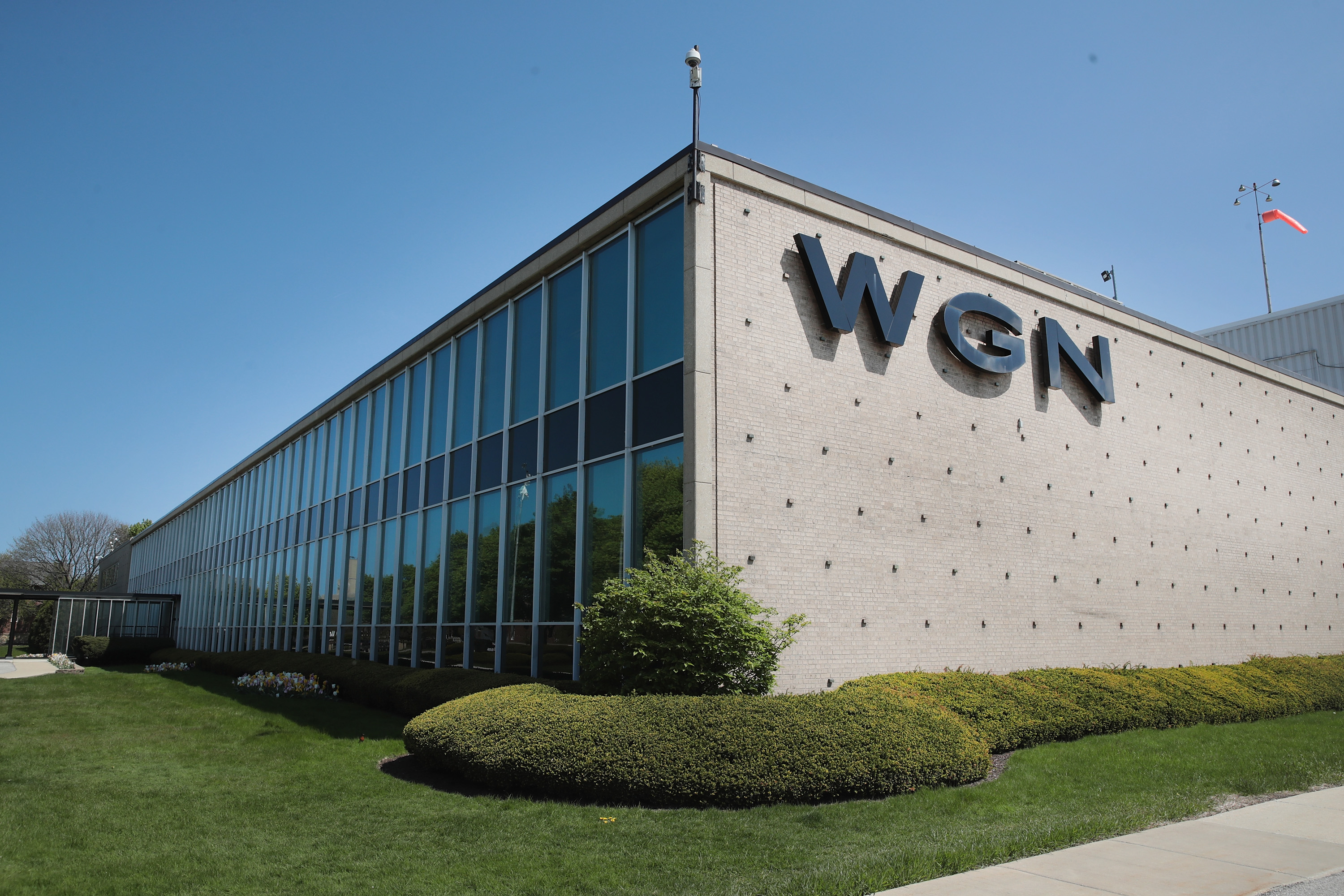 The WGN studios at 2501 W. Bradley Place in 2017.