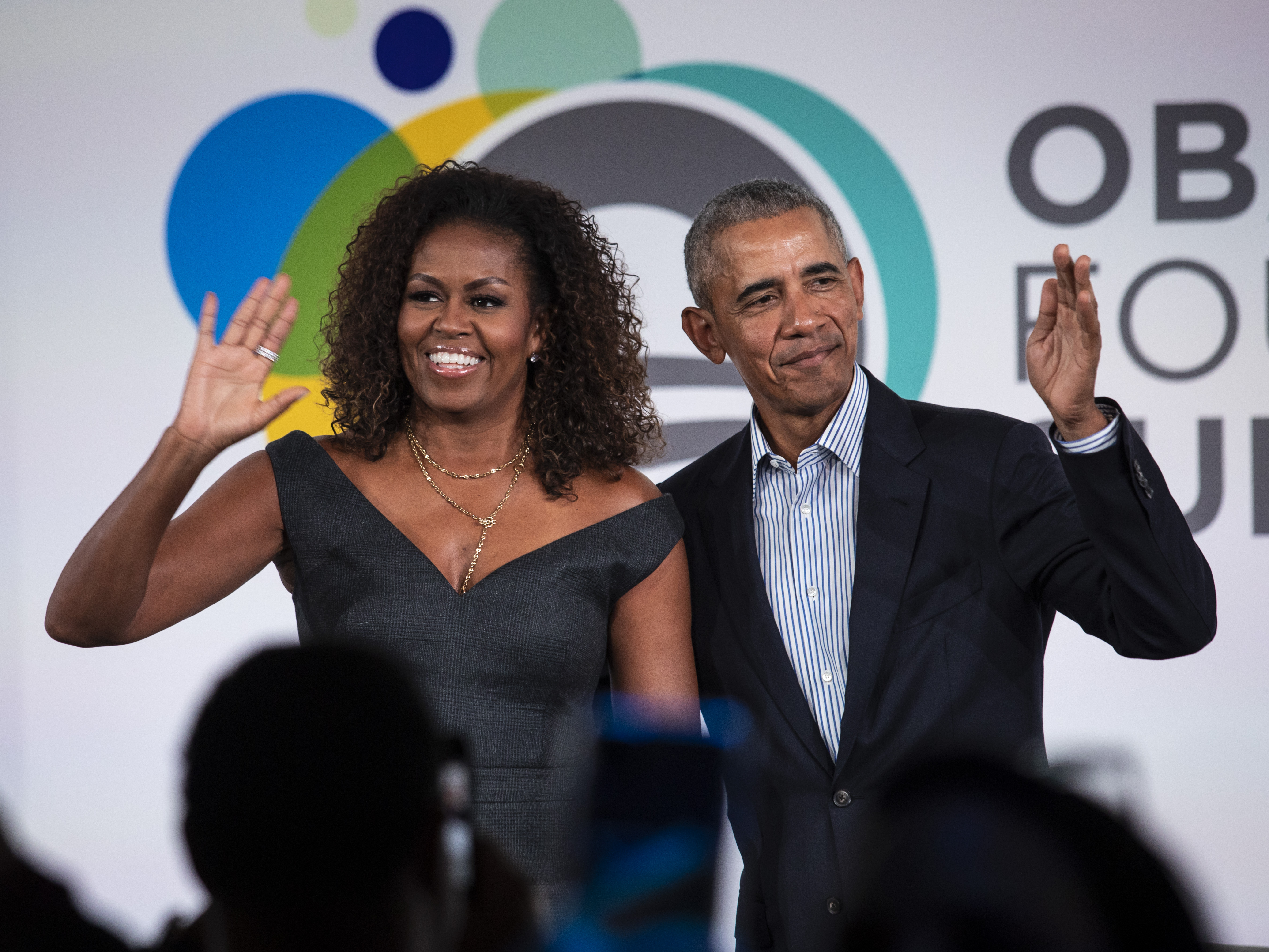 Former President Barack Obama and first lady Michelle Obama pledge at least $1 million for their Obama Foundation.