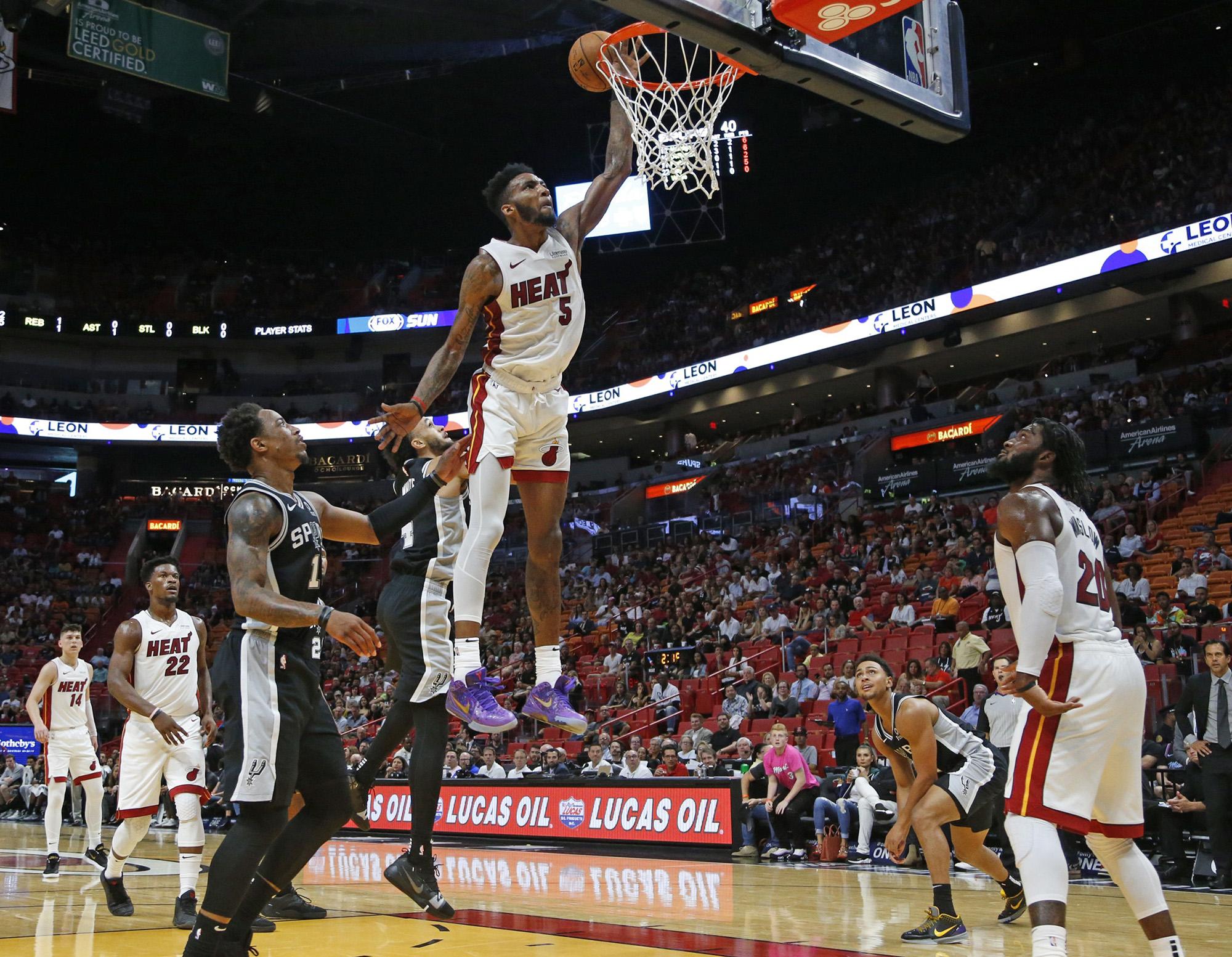 Heat's Derrick Jones Jr. proving to be lightning with a throttle