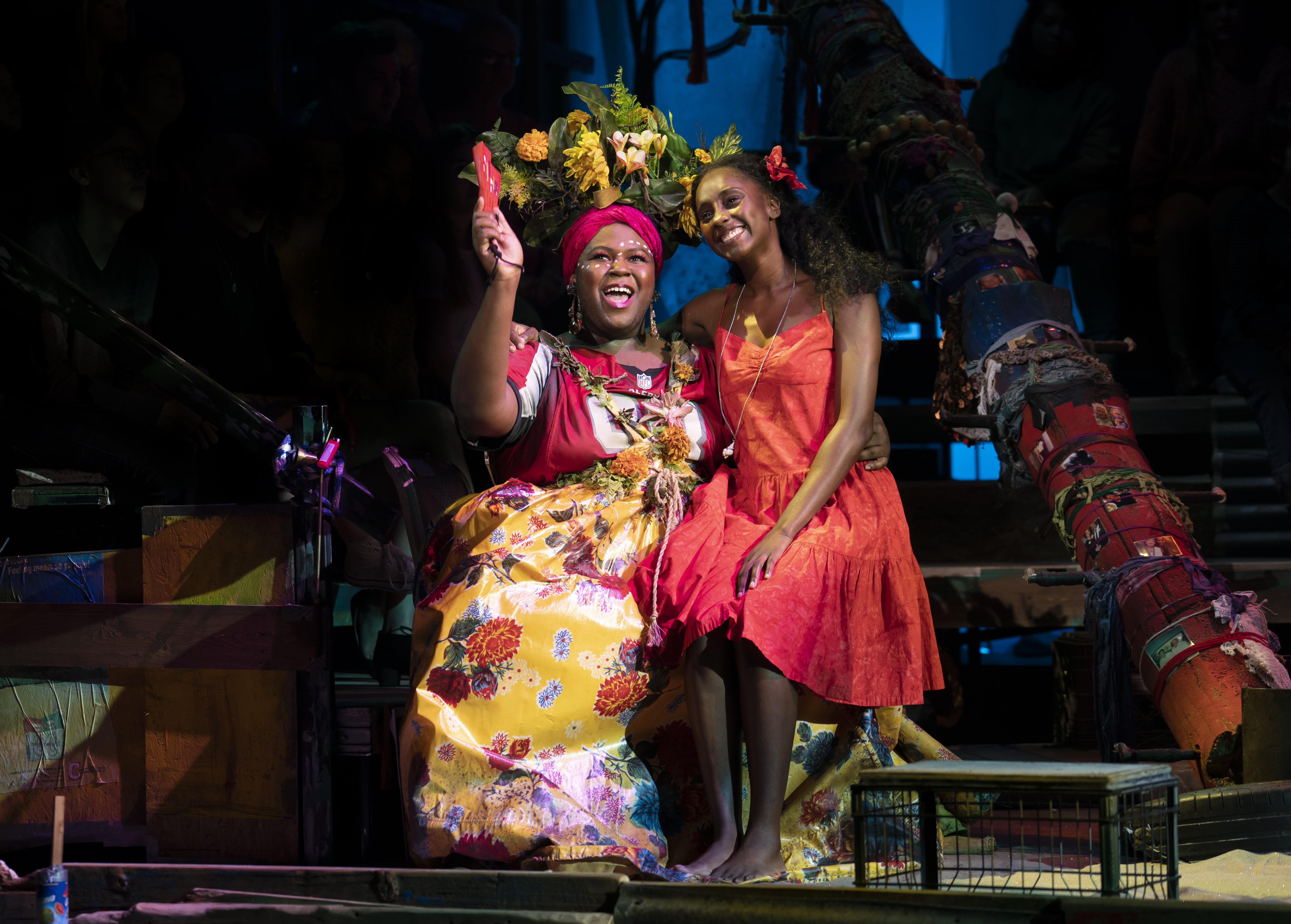 Kyle Ramar Freeman as 'Asaka' and Courtnee Carter as 'Ti Moune' in the North American Tour of ONCE ON THIS ISLAND. Photo by Joan Marcus. 2019.jpg