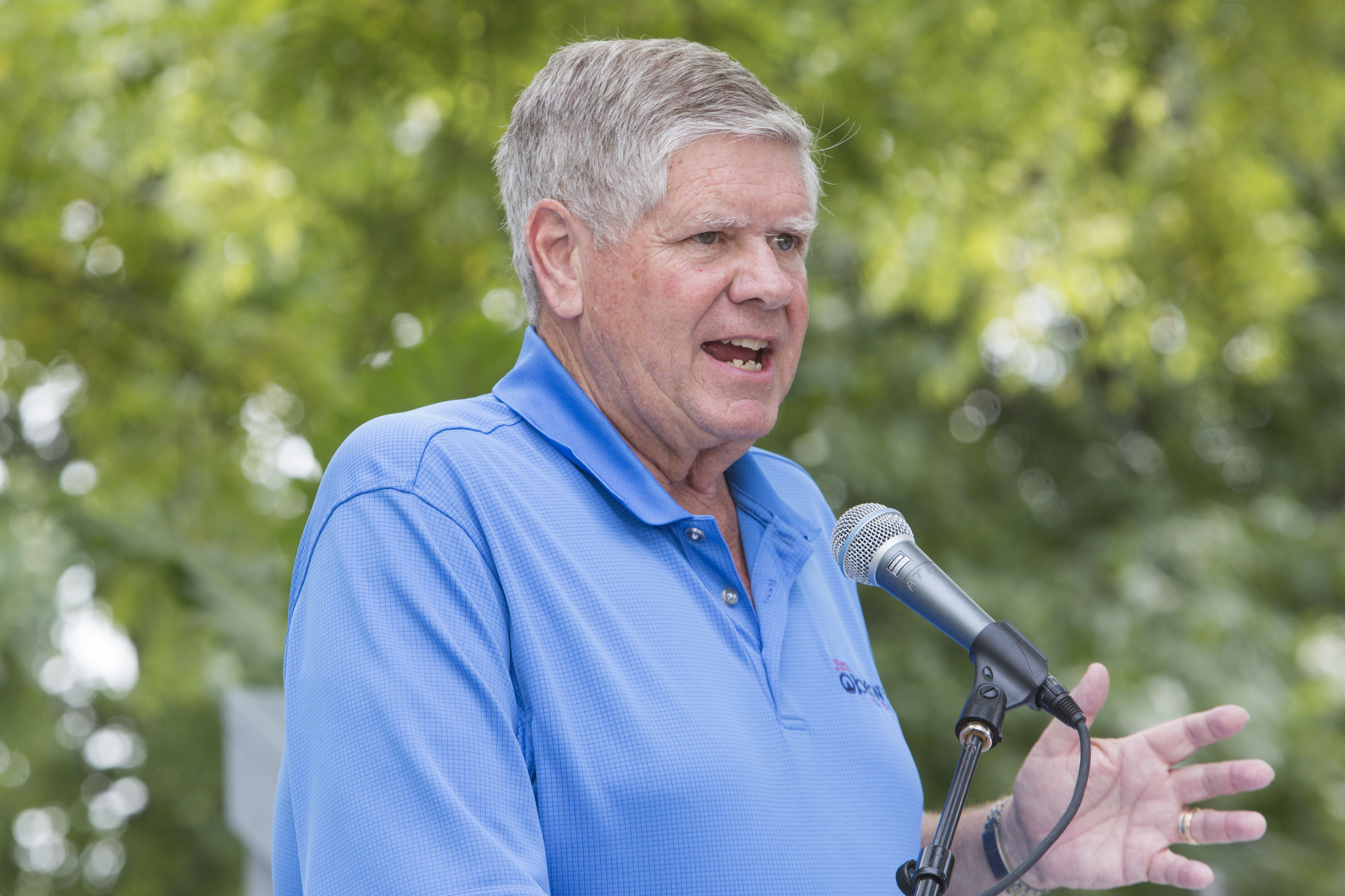 Republican House candidate Jim Oberweis, a state senator who loaned his campaign $1 million in August 2014