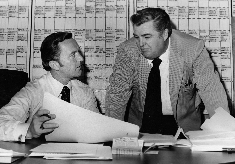 New England Patriots Coach Chuck Fairbanks And Bucko Kilroy