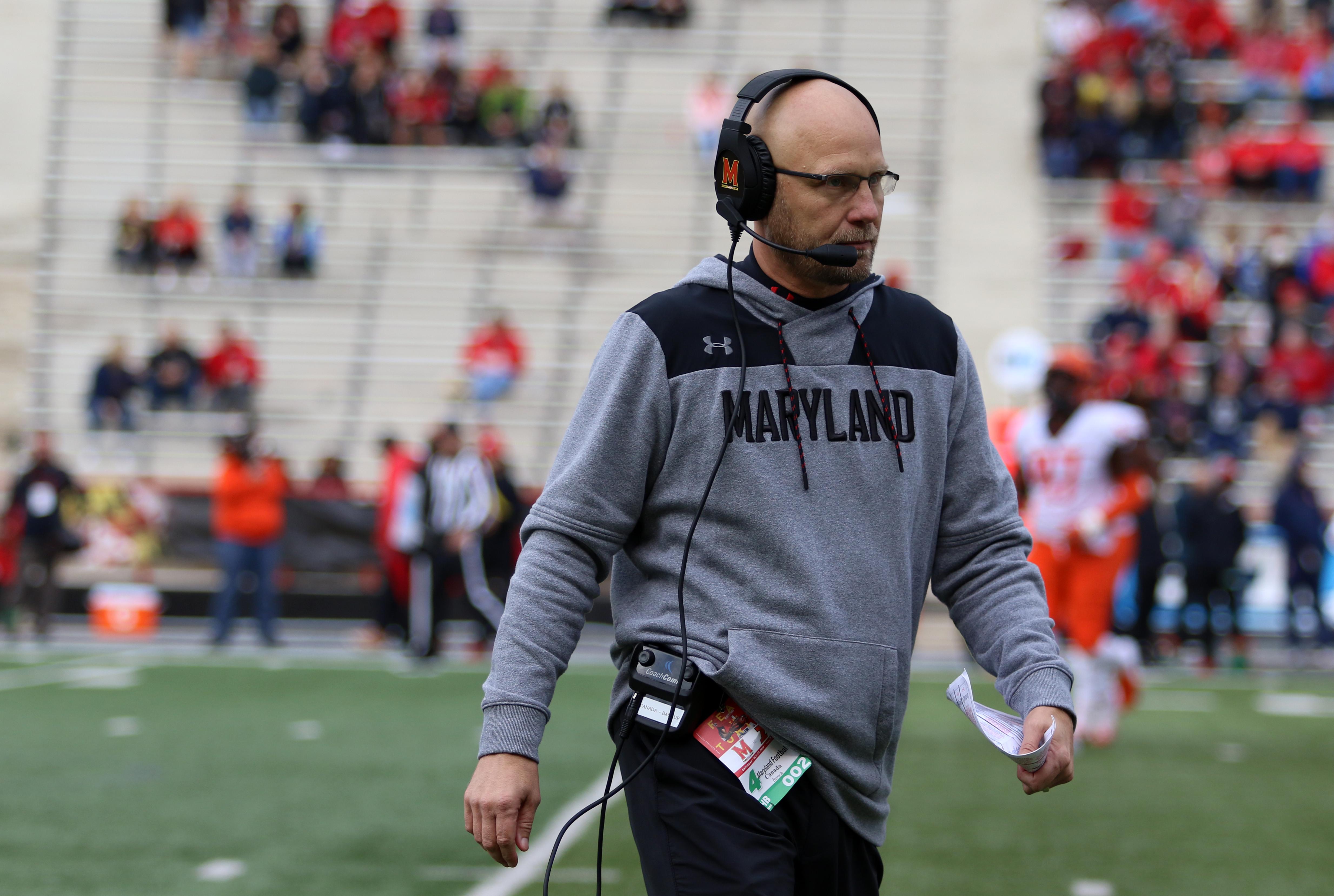 Maryland football Matt Canada vs Illinois