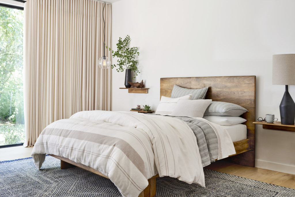 West Elm's new all-natural bedding is made from hemp