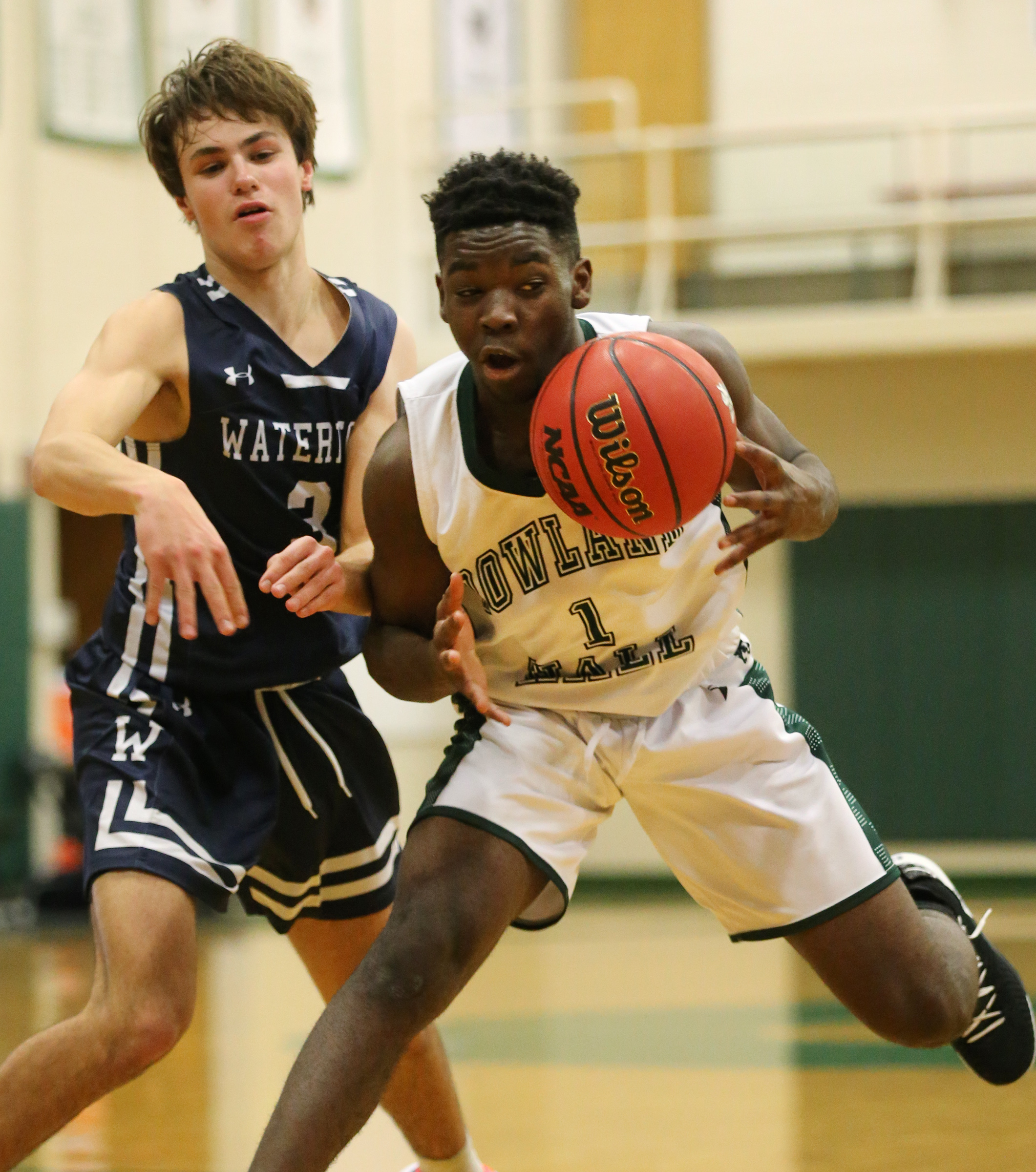 Rowland Hall and Waterford play at Rowland Hall in Salt Lake City on Wednesday, Jan. 15, 2020.