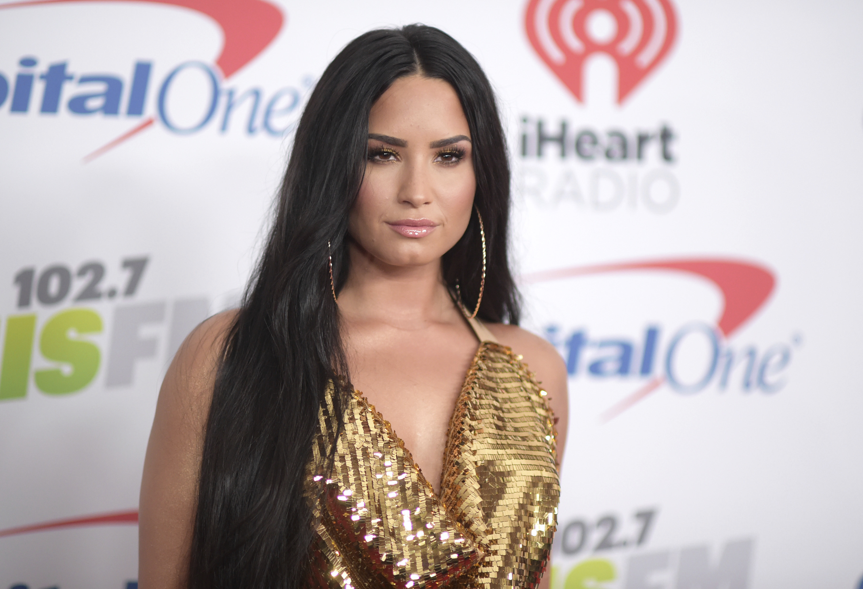 Demi Lovato arrives at Jingle Ball at The Forum in Inglewood, California in 2017.