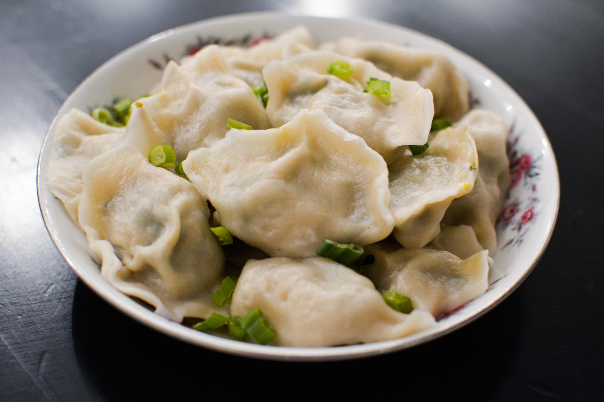 A plate of fat dumplings.