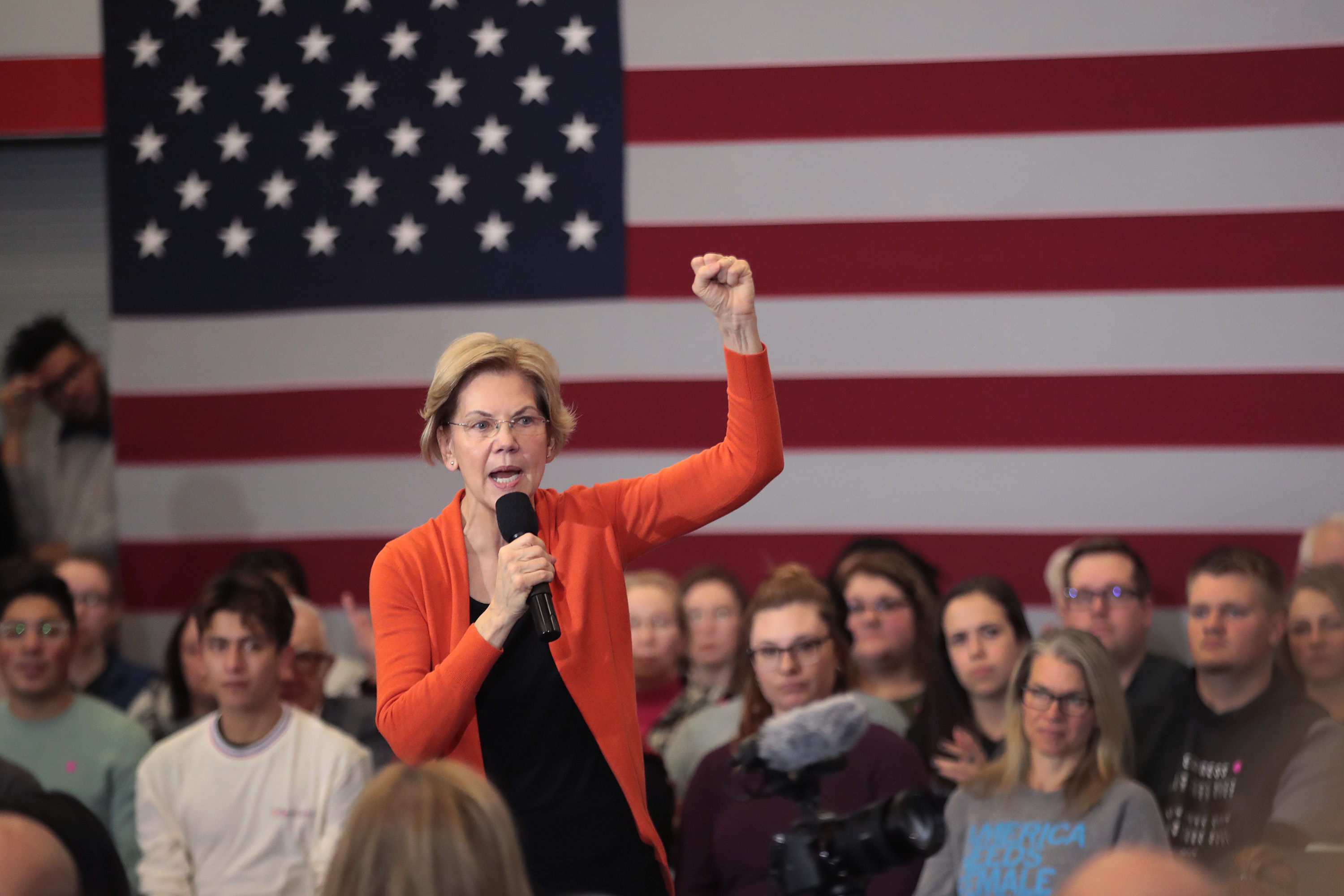 Julian Castro Joins Elizabeth Warren On The Campaign Trail In Iowa