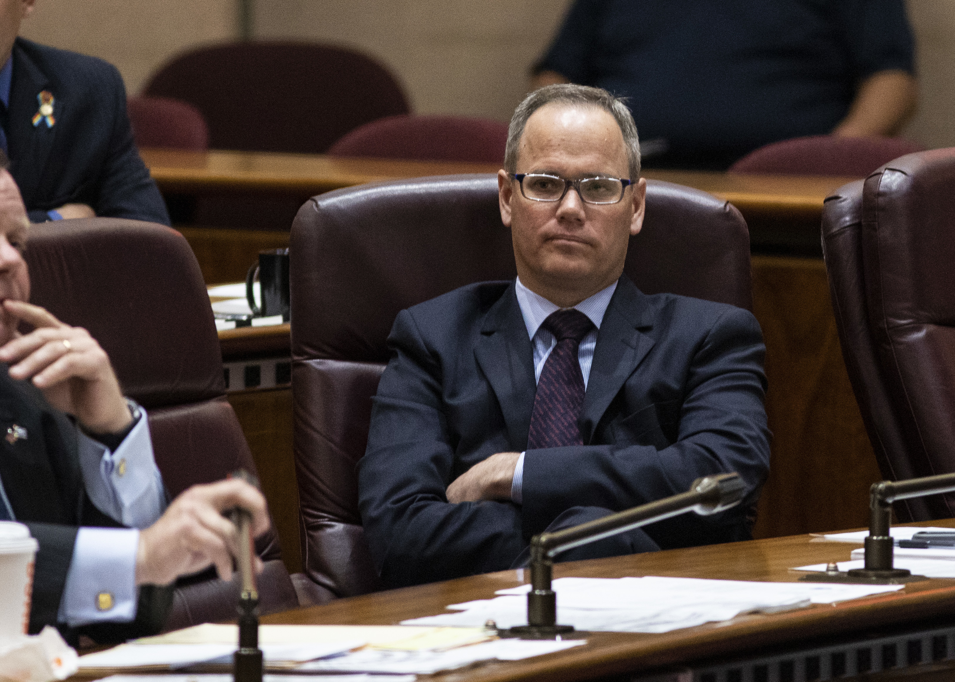 Ald. Marty Quinn (13th) at a Finance Committee meeting in 2019.