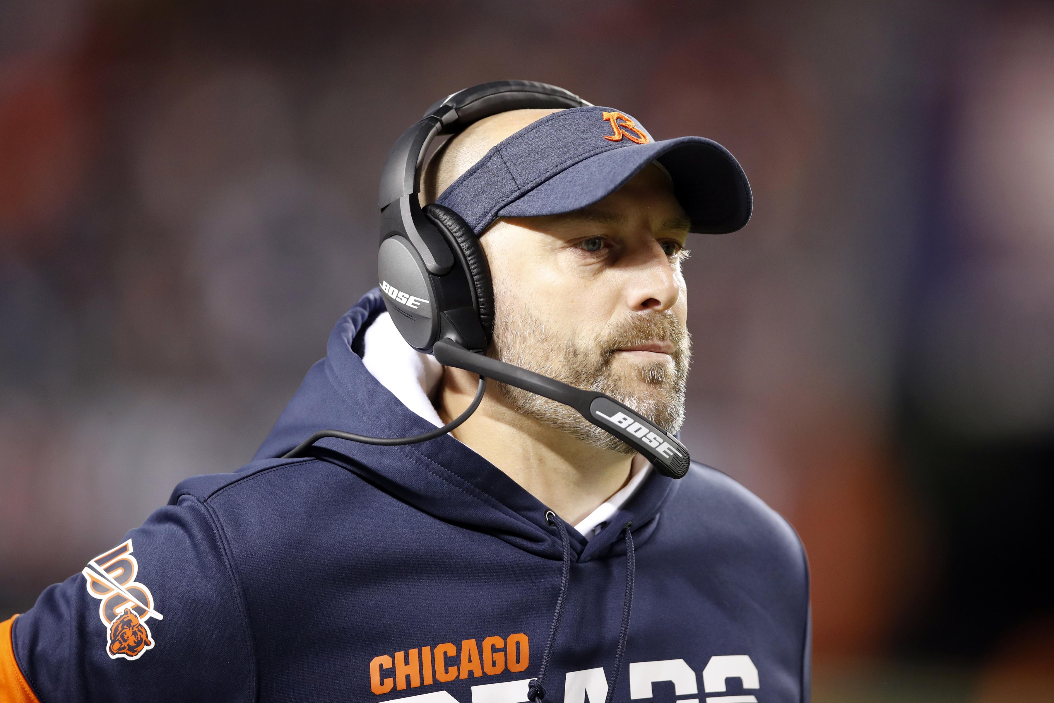 Bears coach Matt Nagy announced staffing changes Thursday.