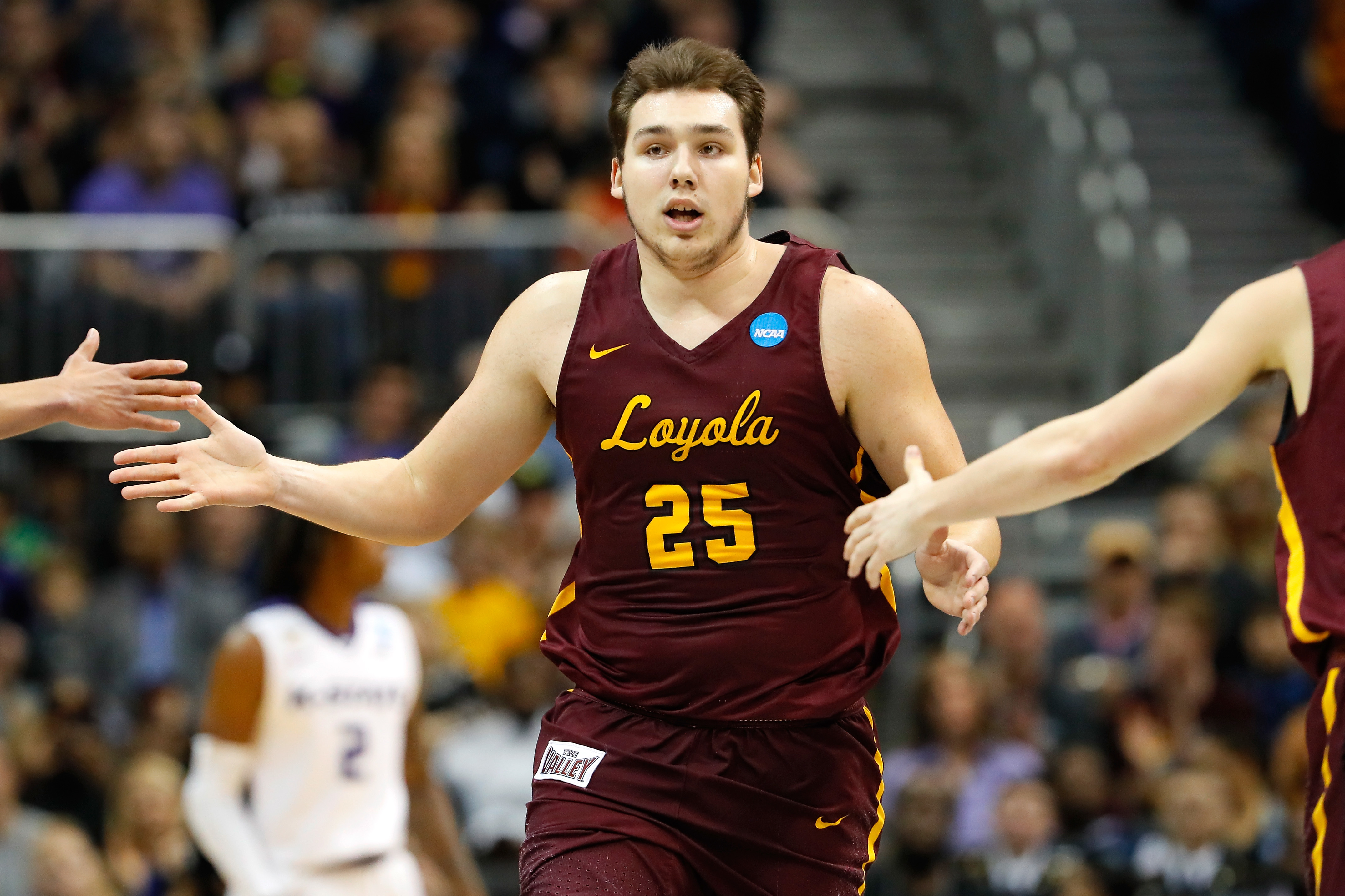 Loyola's Cameron Krutwig, shown in a game earlier this season, had five assists in the Ramblers' win over Southern Illinois.