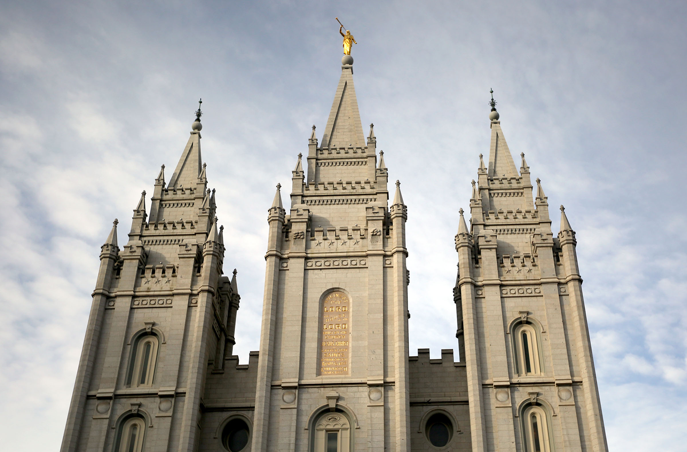 FILE - The Salt Lake Temple of The Church of Jesus Christ of Latter-day Saints.