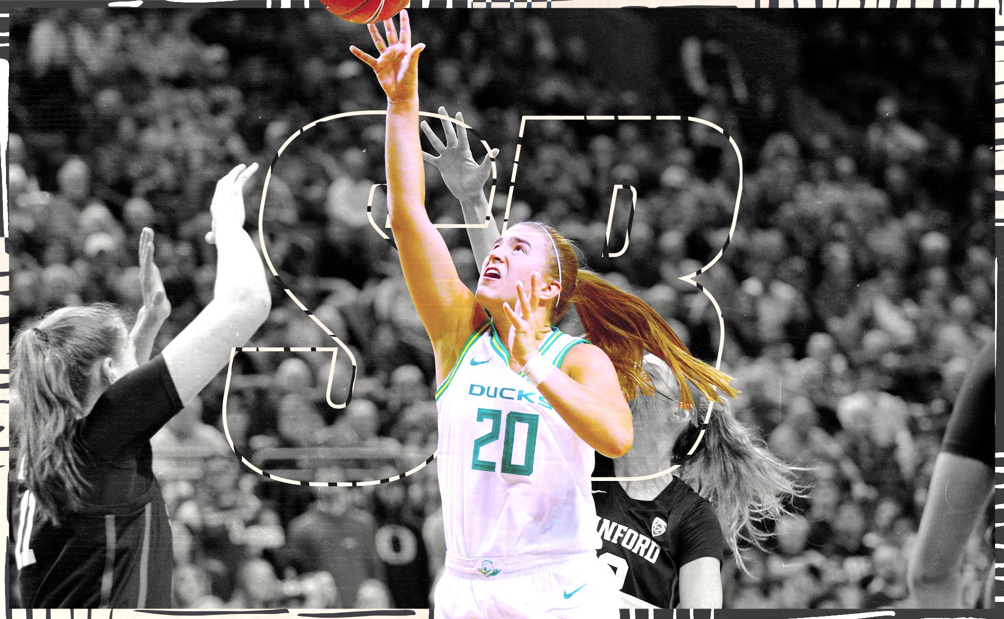 Sabrina Ionescu scores for Oregon.