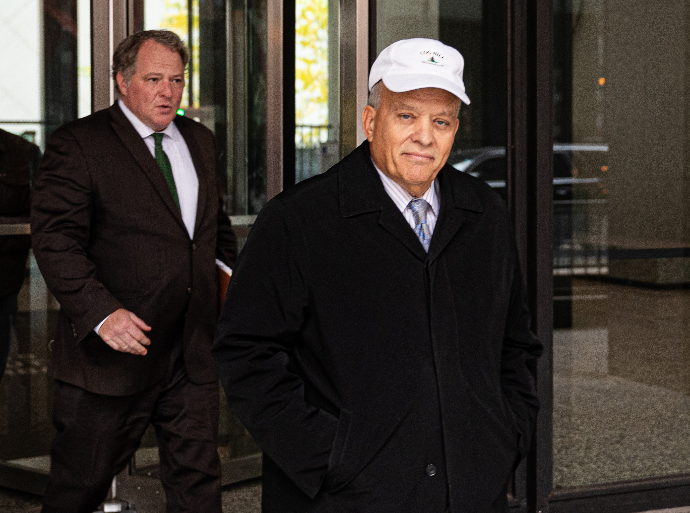 State Rep. Luis Arroyo leaves the Dirksen Federal Building in October.