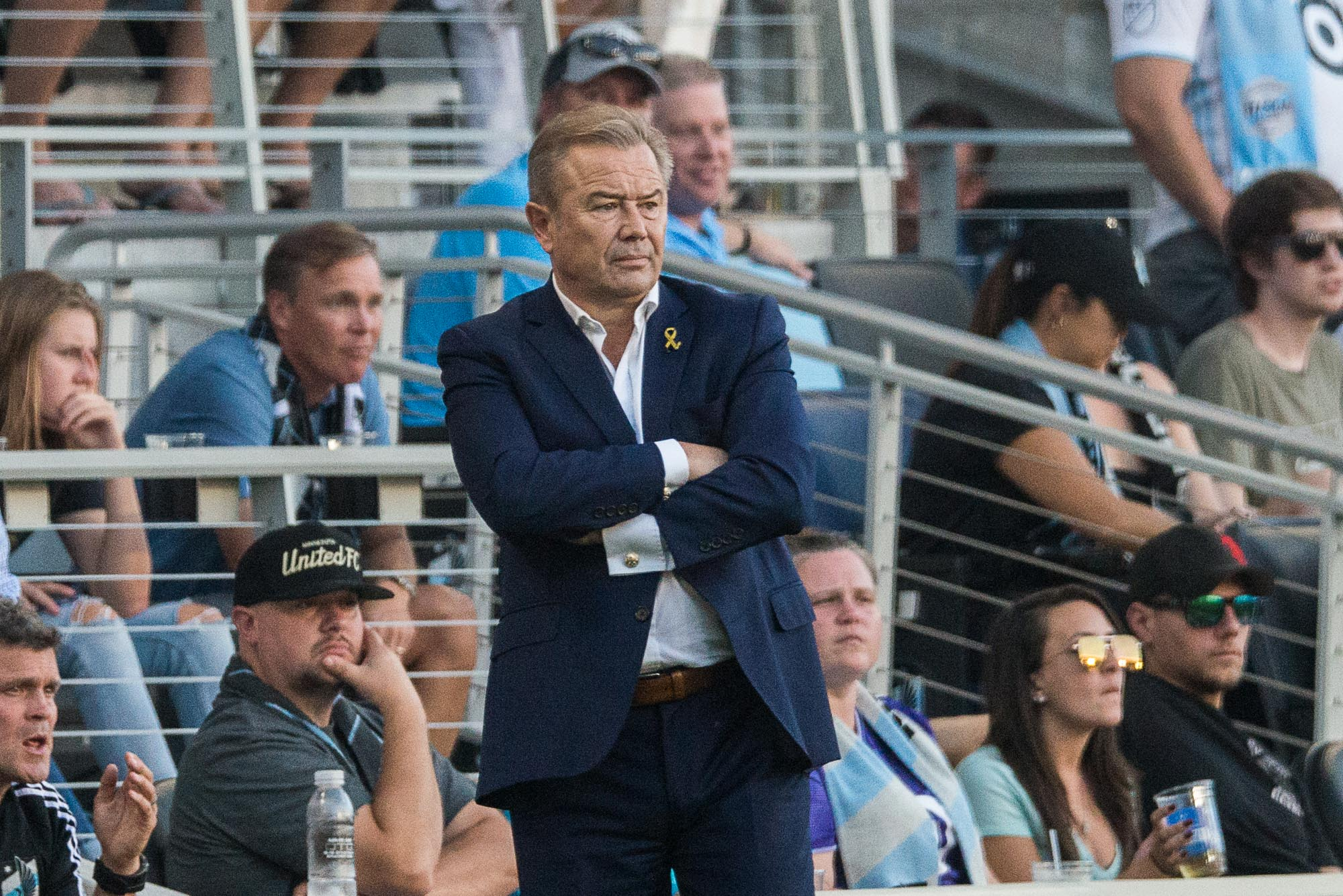 September 15, 2019 - Saint Paul, Minnesota, United States - Adrian Heath during an MLS match between Minnesota United and Real Salt Lake at Allianz Field (Photo: Tim C McLaughlin)