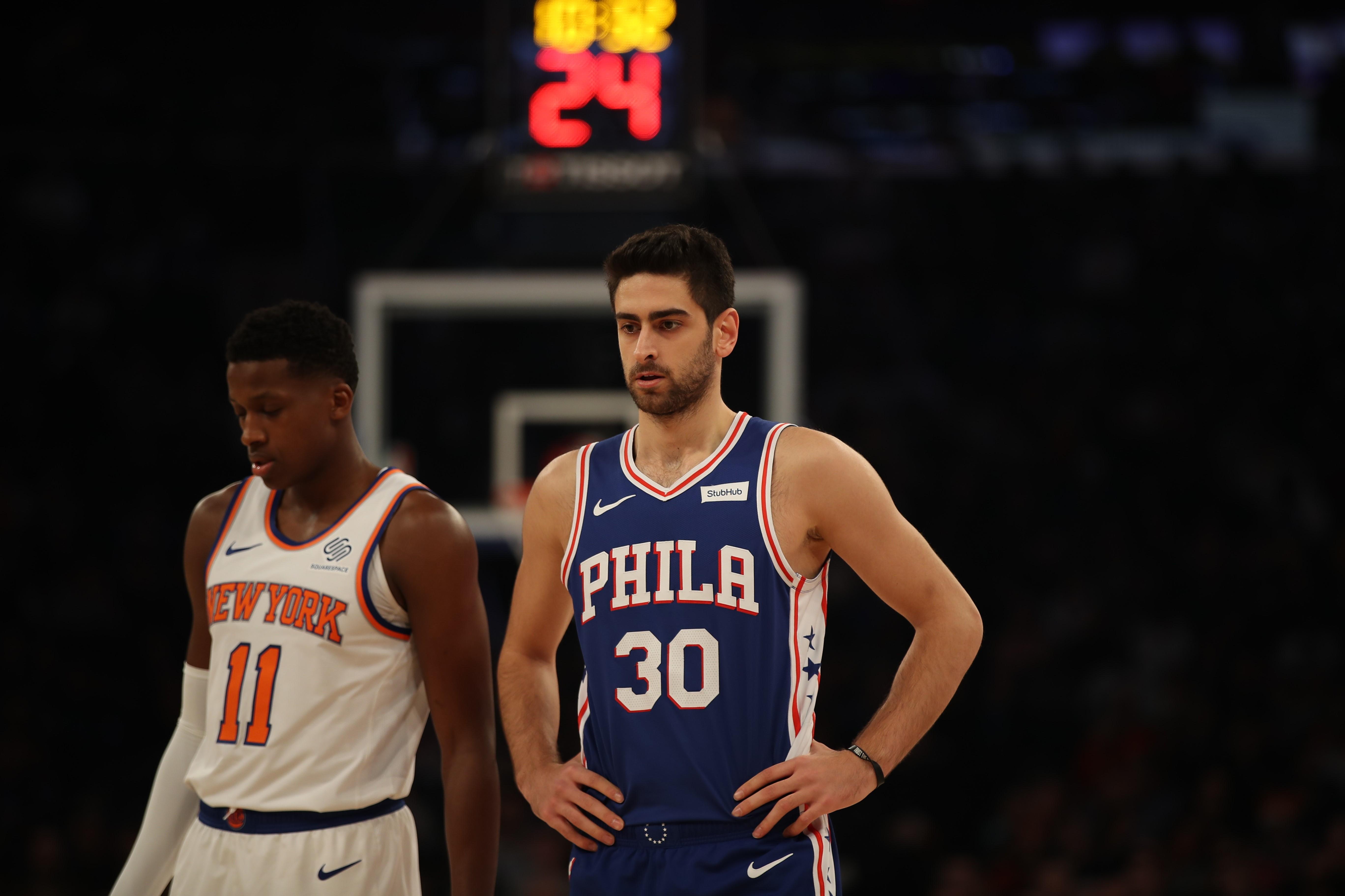 NY Knicks and Philadelphia 76ers