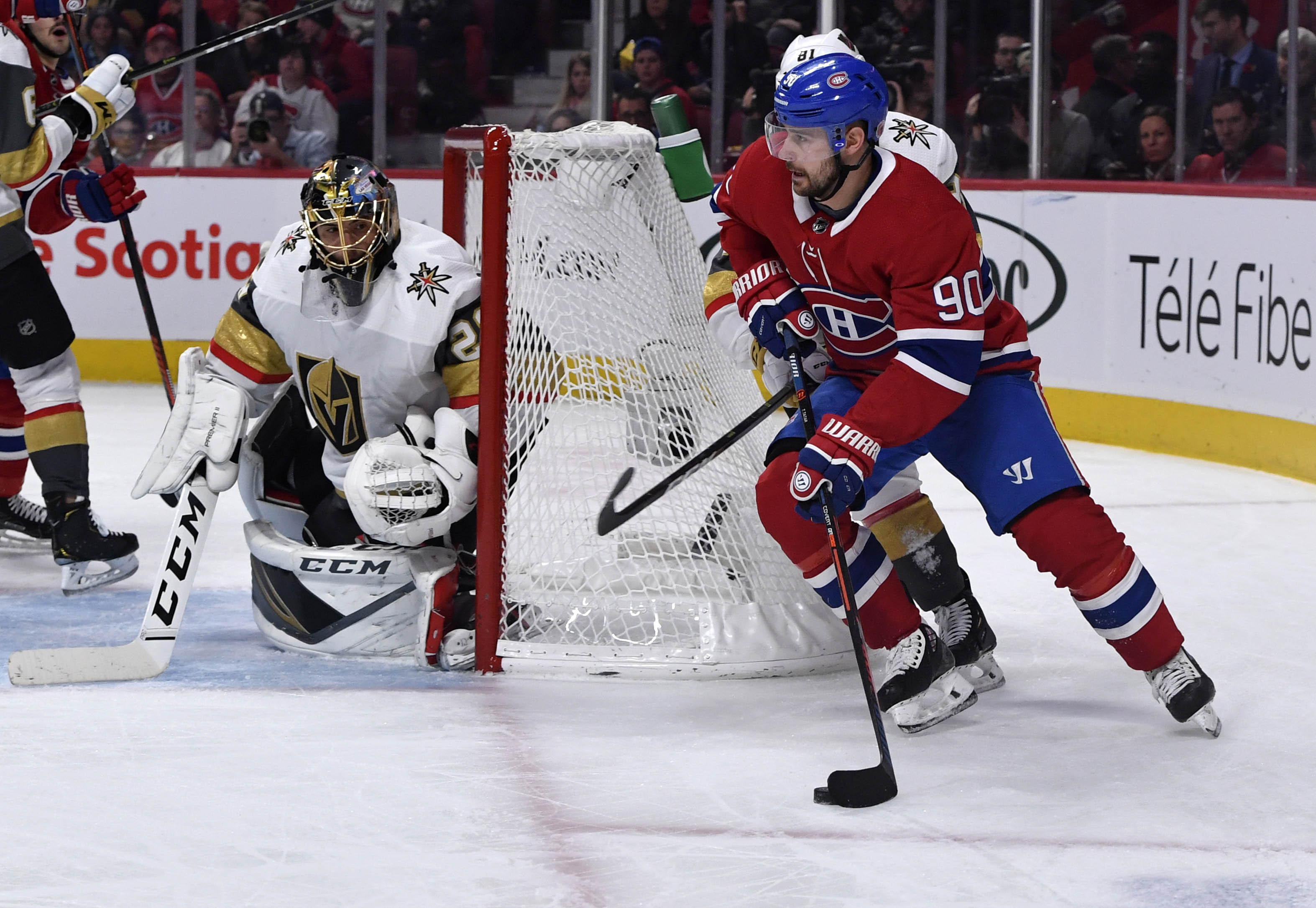 NHL: Vegas Golden Knights at Montreal Canadiens