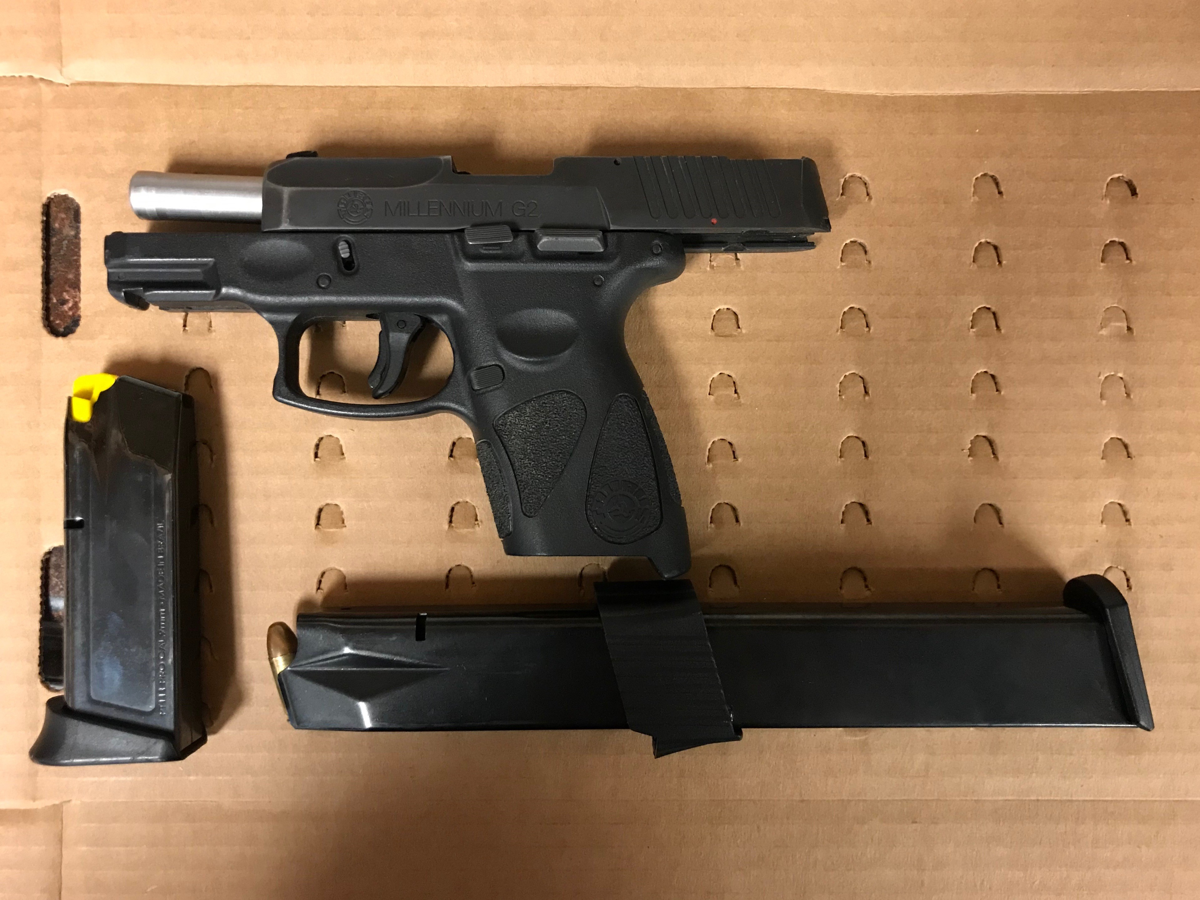 A semi-automatic handgun with a defaced serial number was seized from New York man wanted on a warrant for bail jumping and gun and drug charges when he was arrested Jan. 16, 2020, in Waukegan.