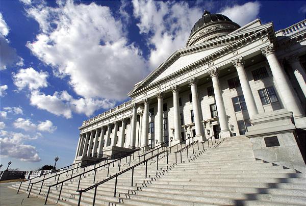 The Utah state Capitol in Salt Lake City.