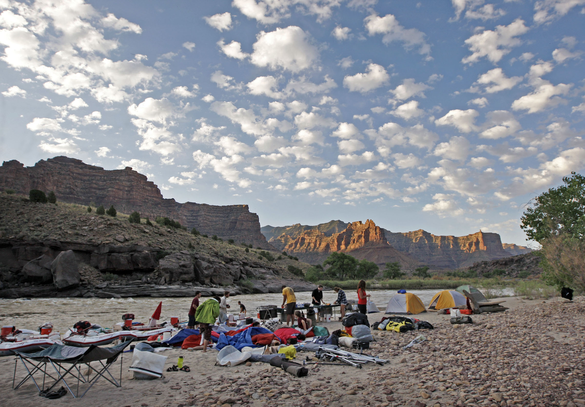 Sunrise as 15 teenagers with various amputees gather for a six-day Un-limb-ited Camp raft trip in Desolation Canyon Thursday, July 1, 2010 on the Green River, Utah. Tom Smart, Deseret News