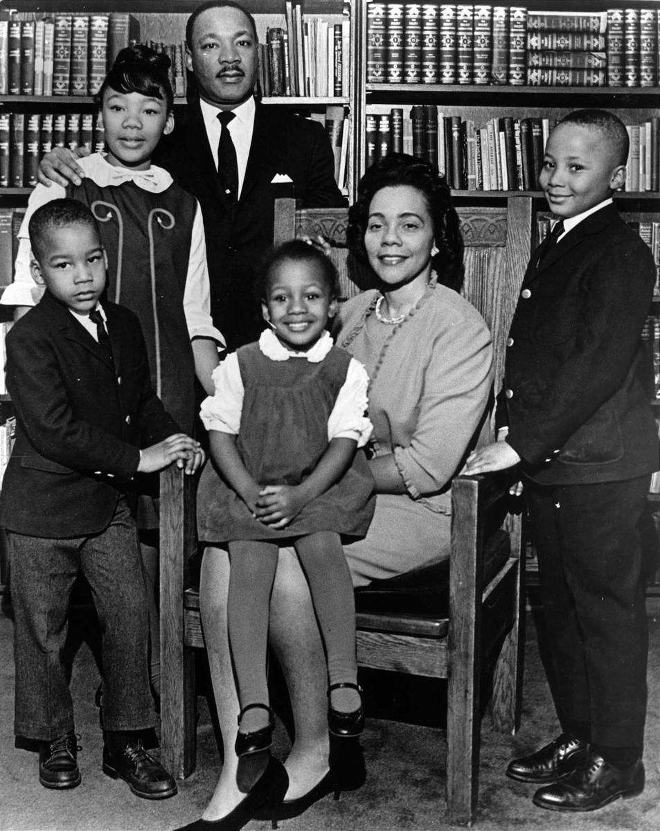 The King family in 1996. From left are Dexter, Yolanda, Martin Luther King Jr., Bernice, Coretta Scott King and Martin Luther King III.