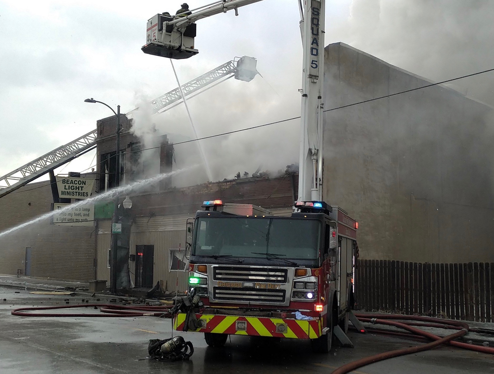A fire broke out at a church in Roseland