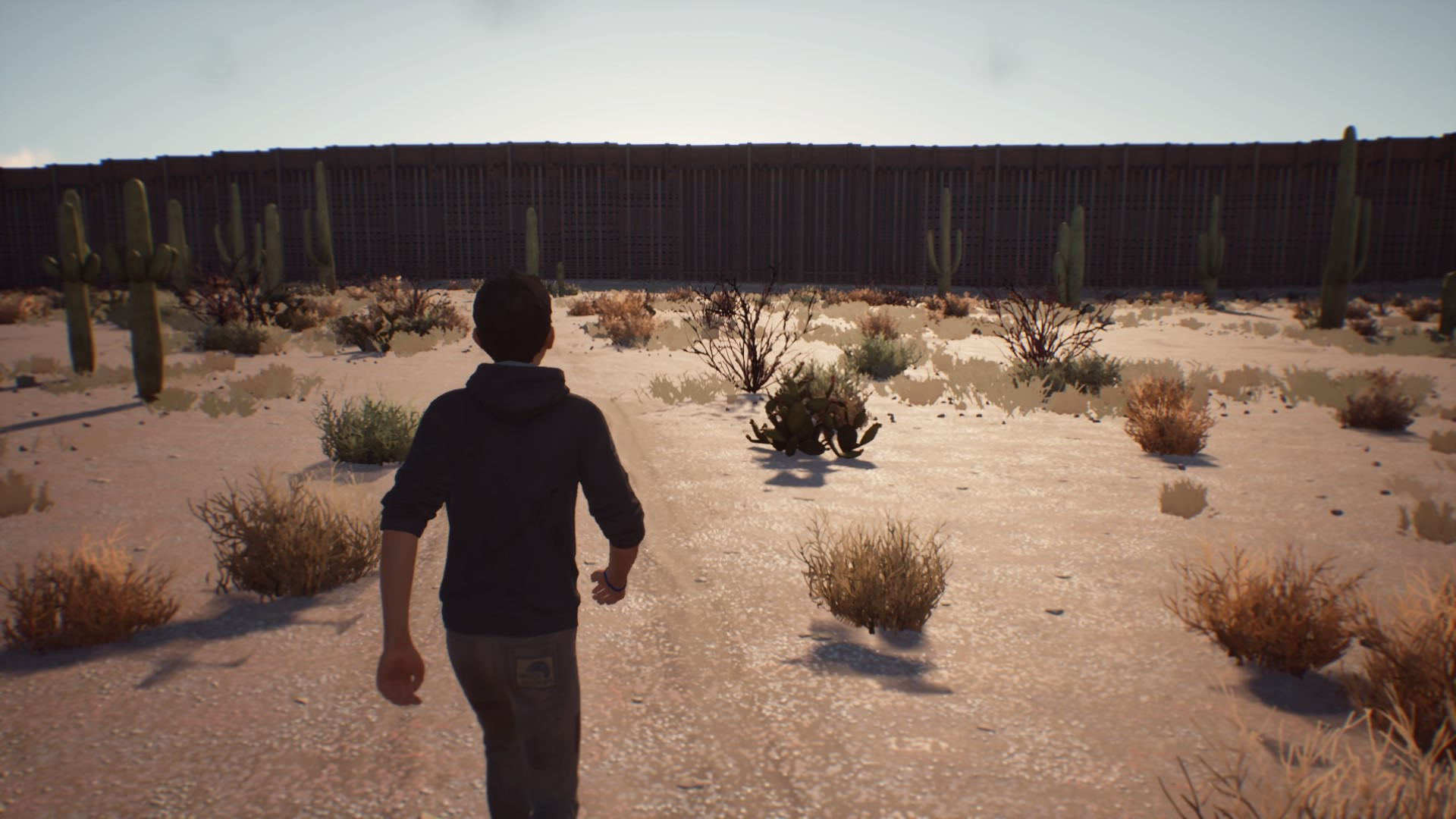 My mom crossed the border in real life. I only cross it in a video game.