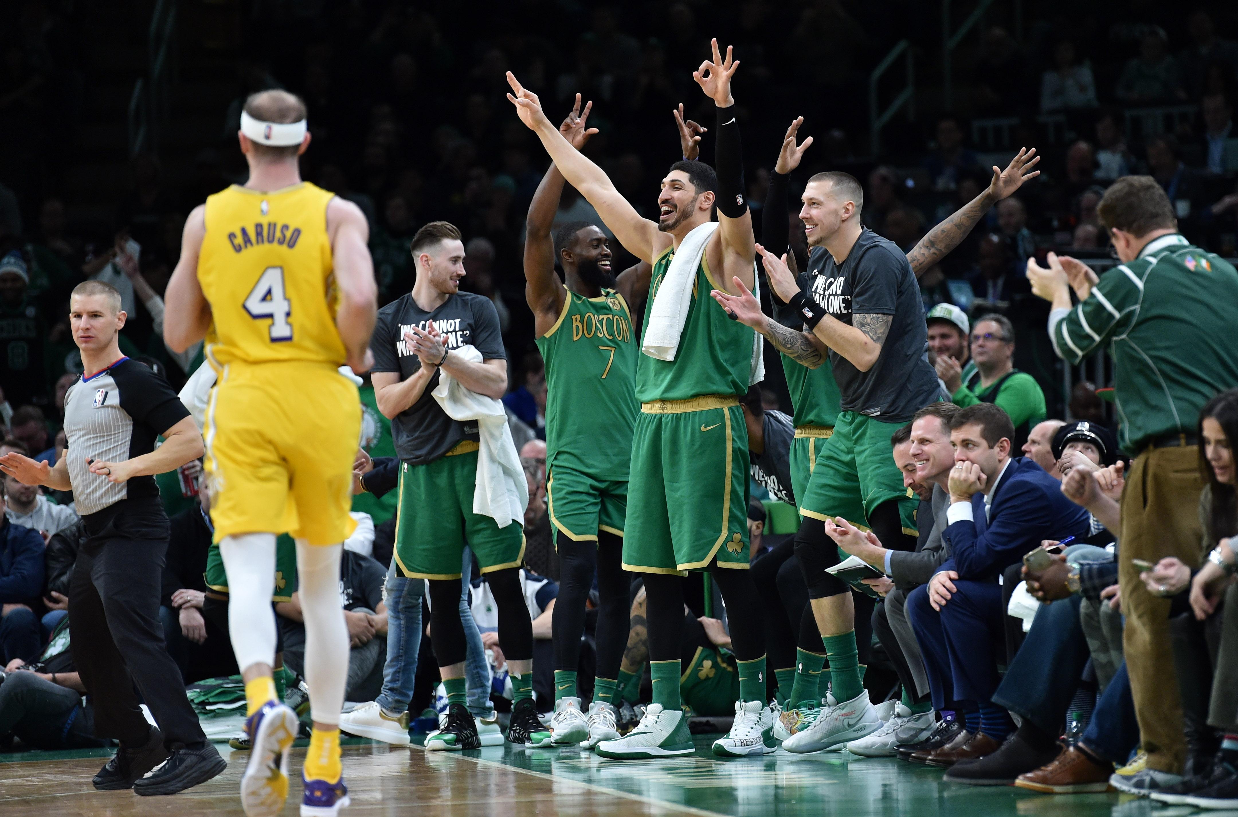 NBA: Los Angeles Lakers at Boston Celtics