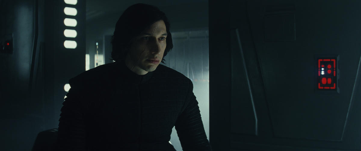 "Kylo Ren (Adam Driver) in ""Star Wars: The Last Jedi."""