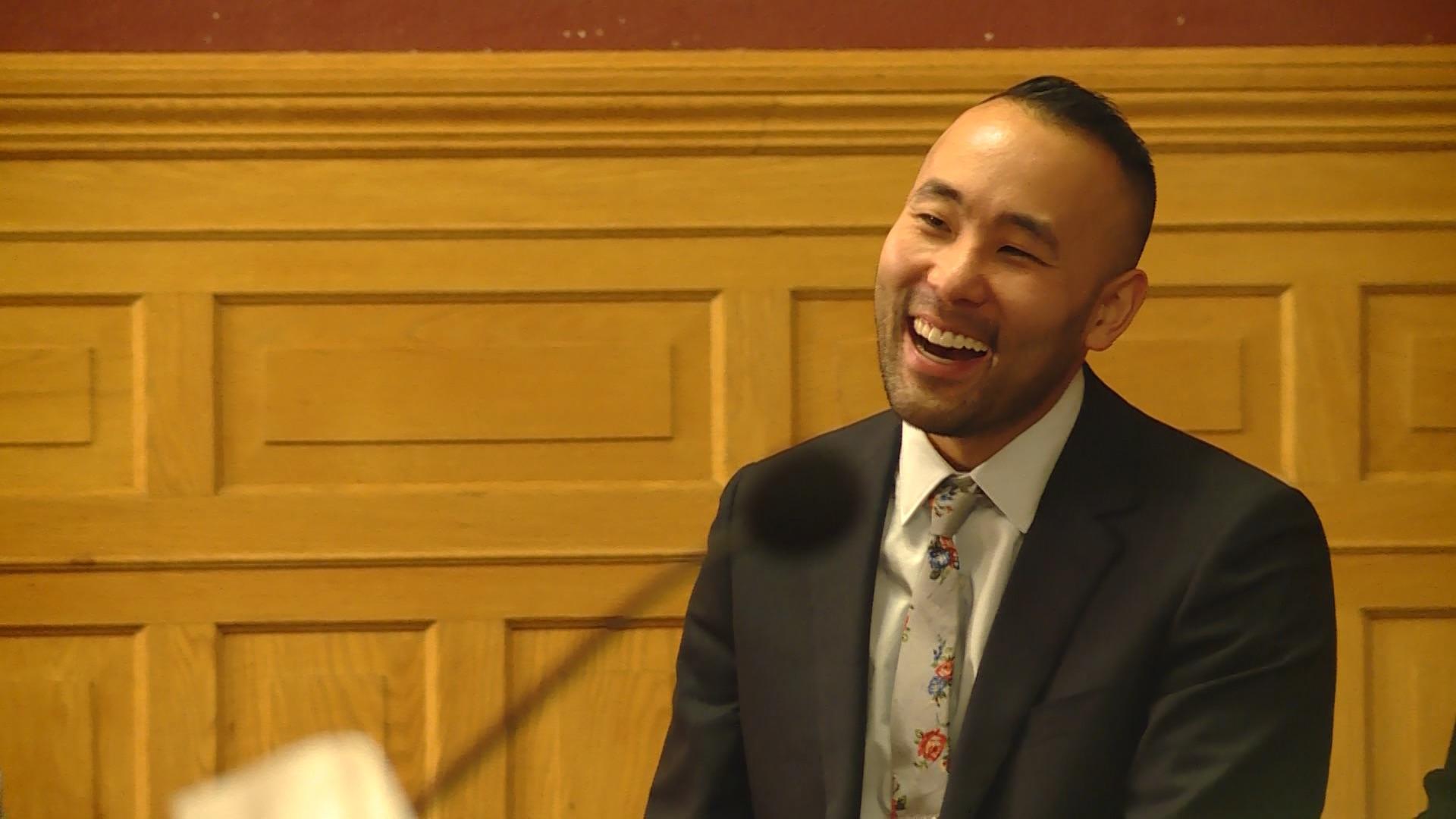 Darin Masao Mano addresses the Salt Lake City Council on Tuesday, Jan. 21, 2020.